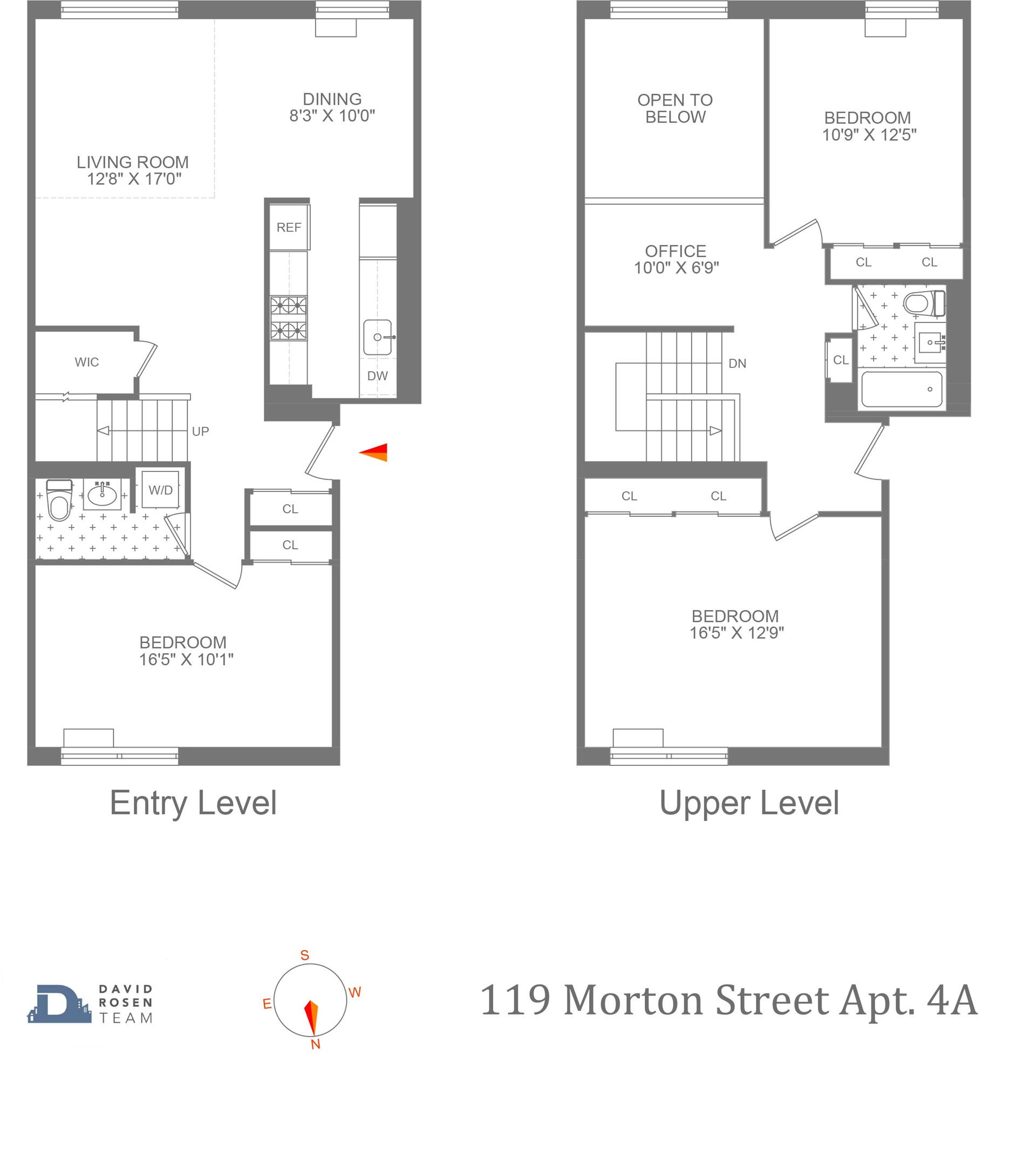 Floor plan of 119 Morton St, 4A - West Village - Meatpacking District, New York
