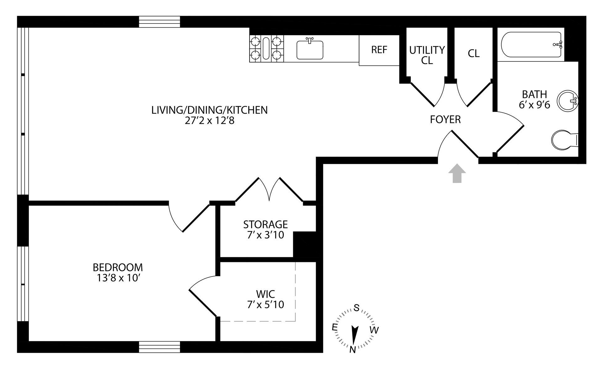 Floor plan of 977 Manhattan Avenue - Greenpoint, New York