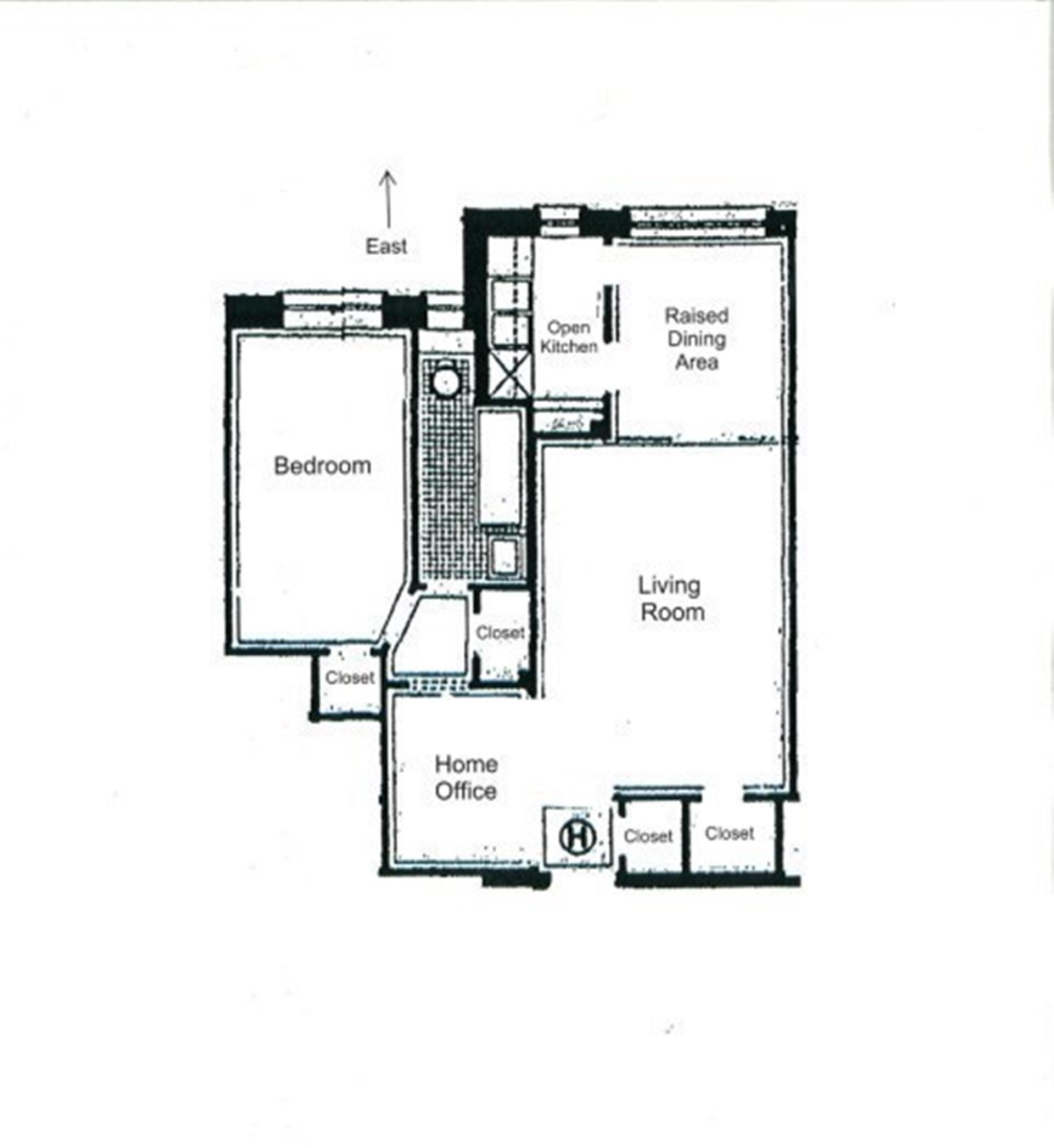 Floor plan of 420 Central Park West, 5H - Upper West Side, New York
