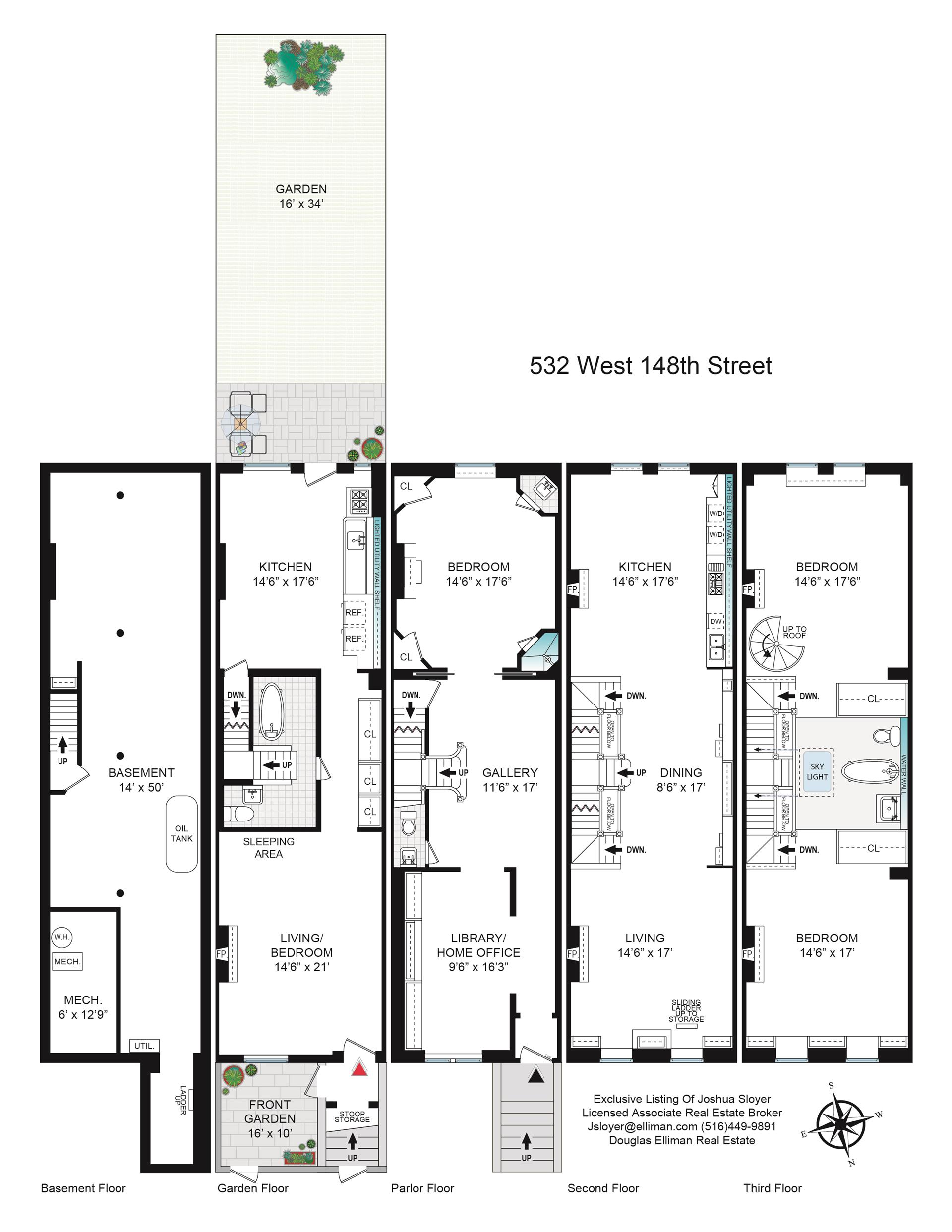 Floor plan of 532 West 148th St - Hamilton Heights, New York