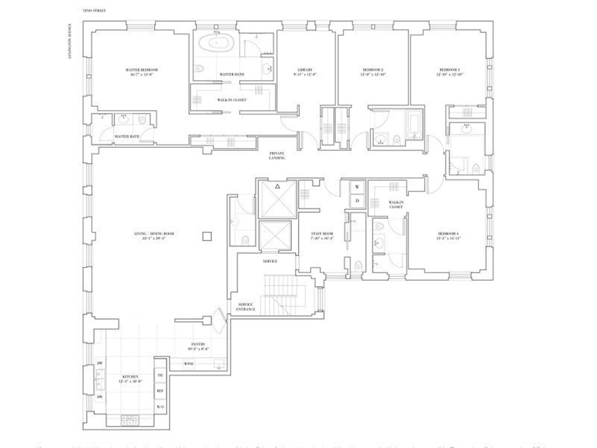 Floor plan of 150 East 72nd St, 4N - Upper East Side, New York