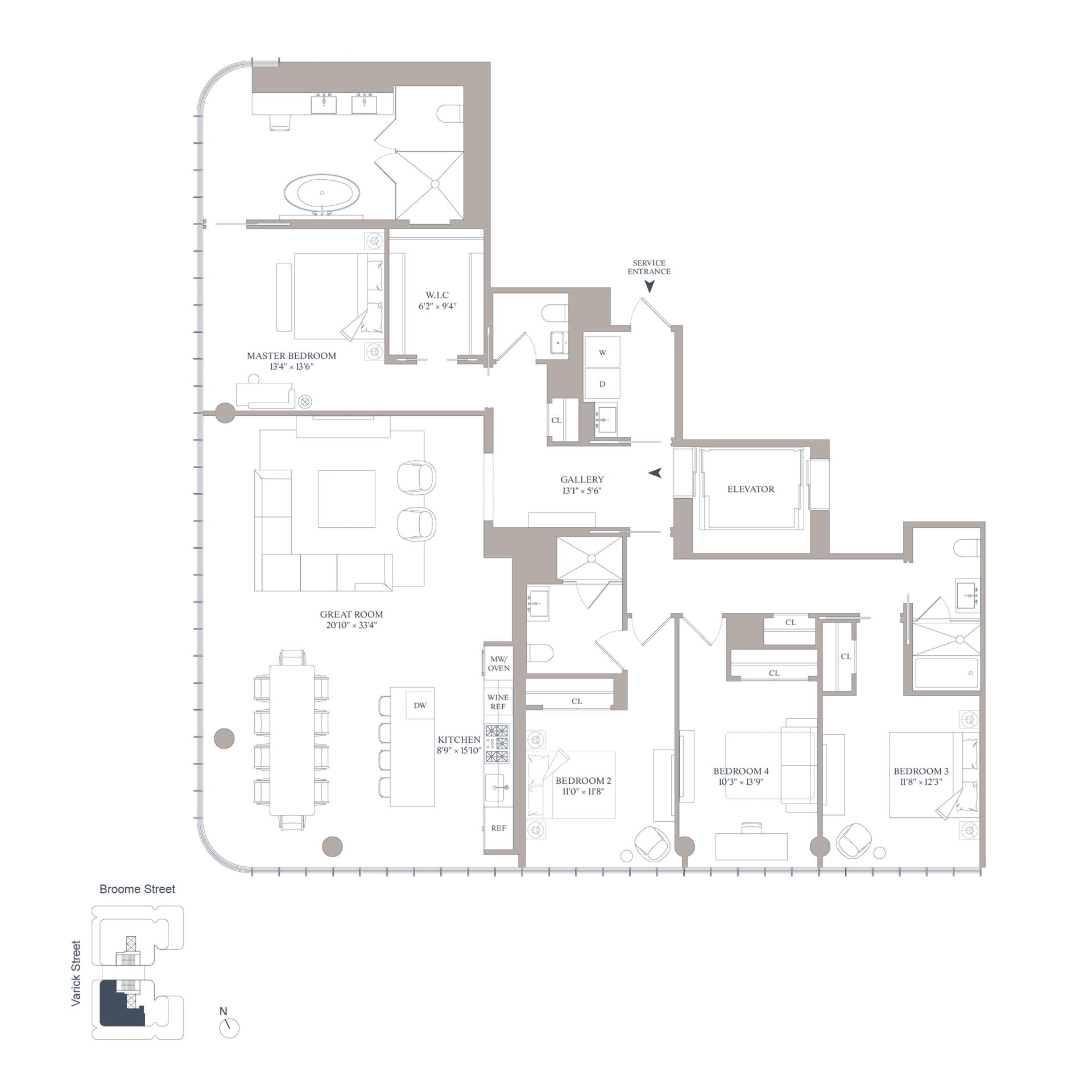 Floor plan of 565 Broome St, S22A - SoHo - Nolita, New York