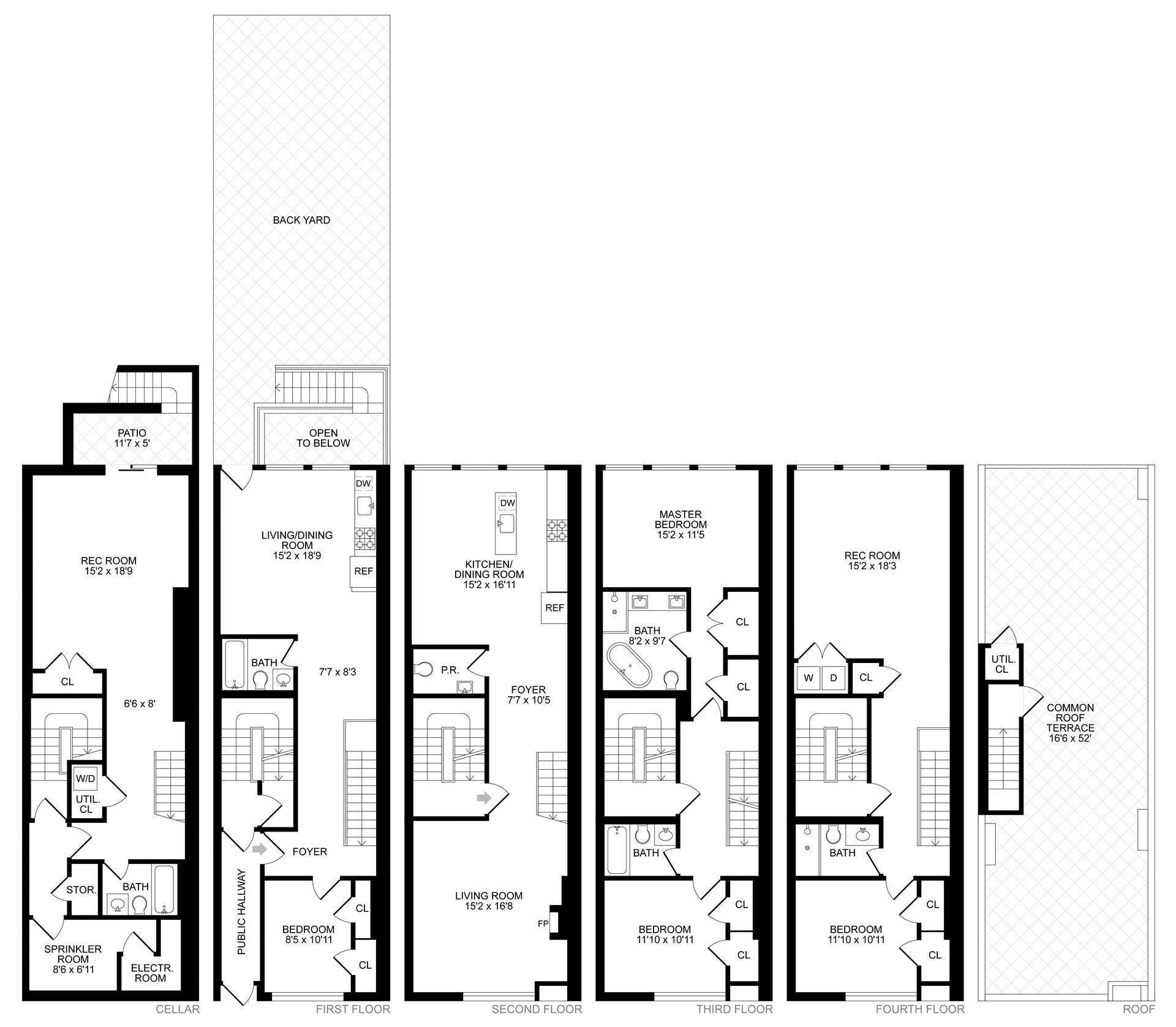 Floor plan of 72 Clifton Pl - Clinton Hill, New York