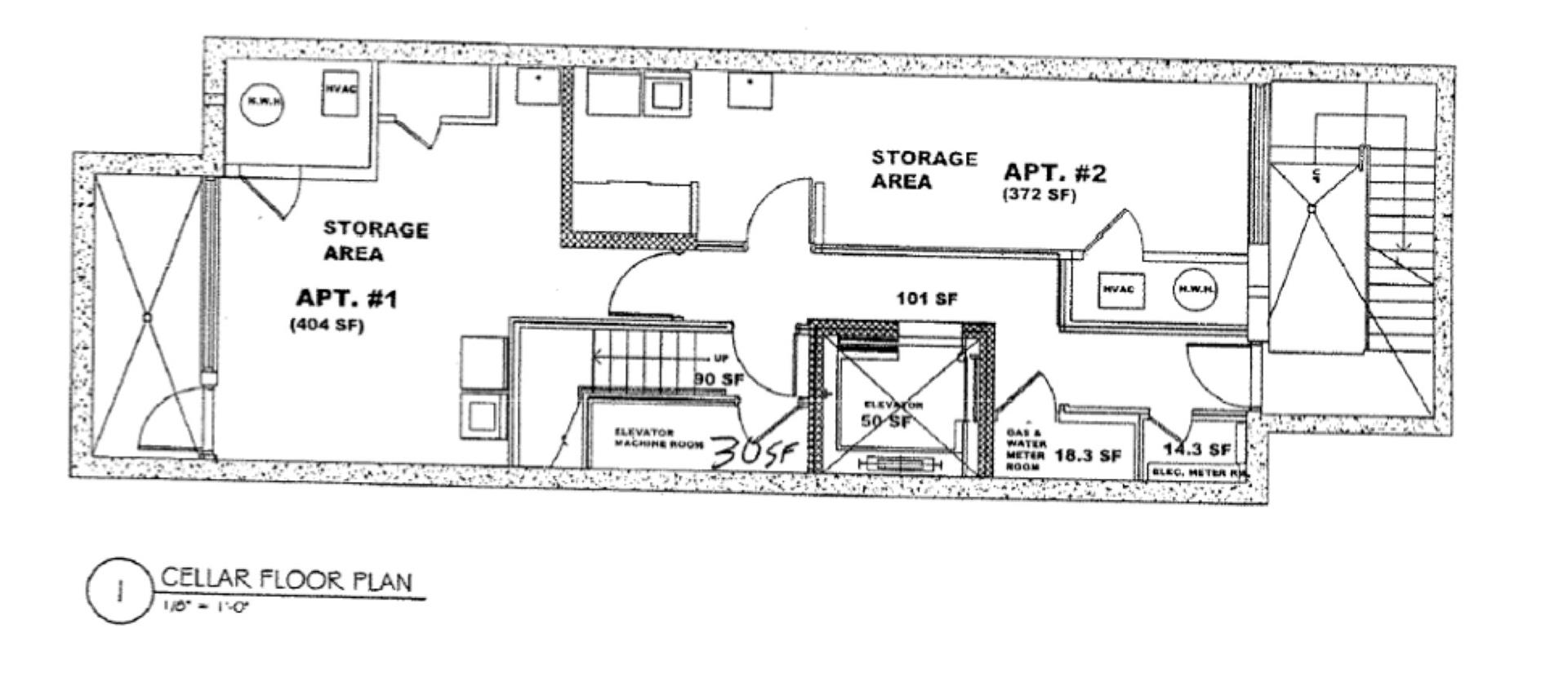 Floor plan of Das Haus, 90 Clermont Avenue - Fort Greene, New York