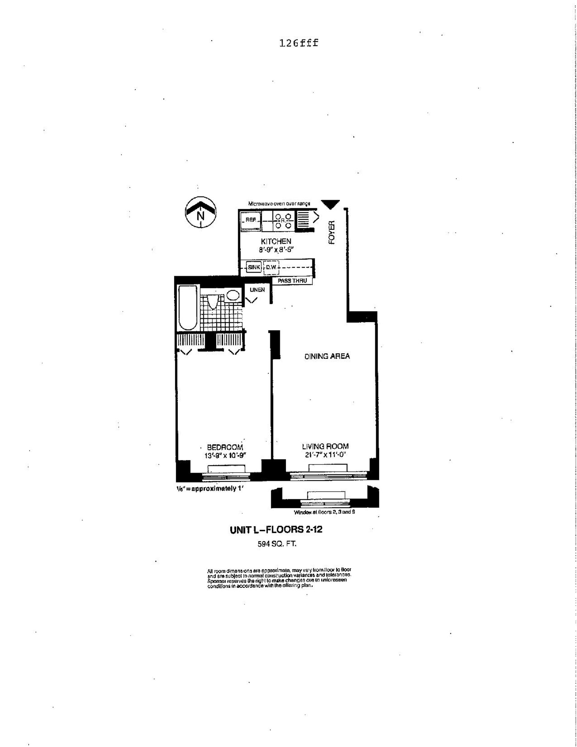 Floor plan of Liberty Residences, 377 Rector Pl, 10L - Battery Park City, New York