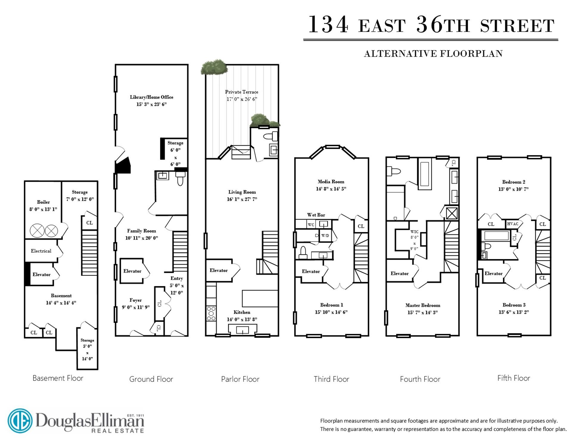 Floor plan of 134 East 36th Street - Murray Hill, New York