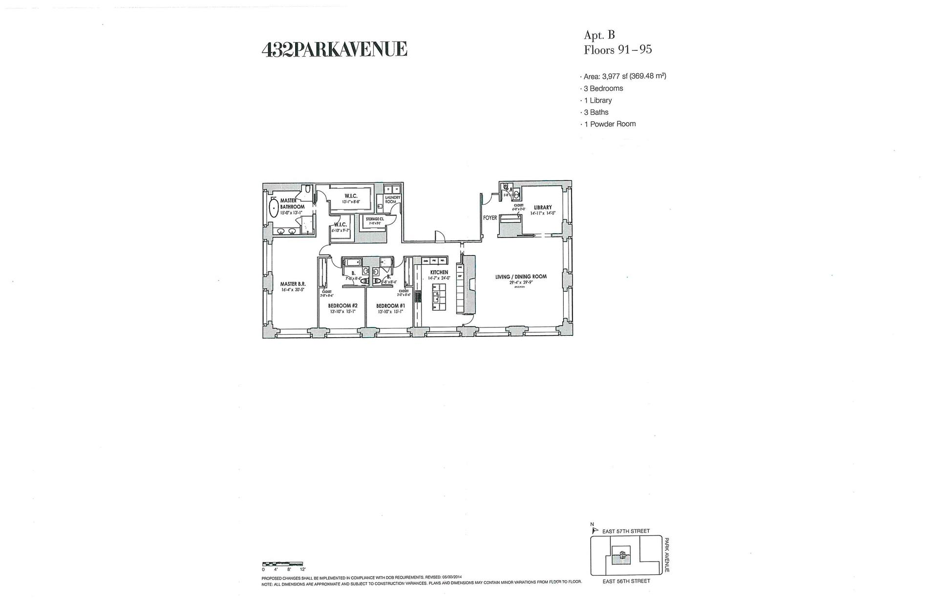 Floor plan of 432 Park Avenue, PH94B - Midtown, New York