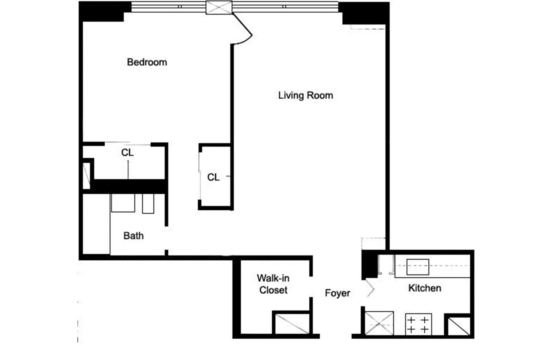 Floor plan of 400 CPW CONDOMINIUM, 400 Central Park West, 7Y - Upper West Side, New York
