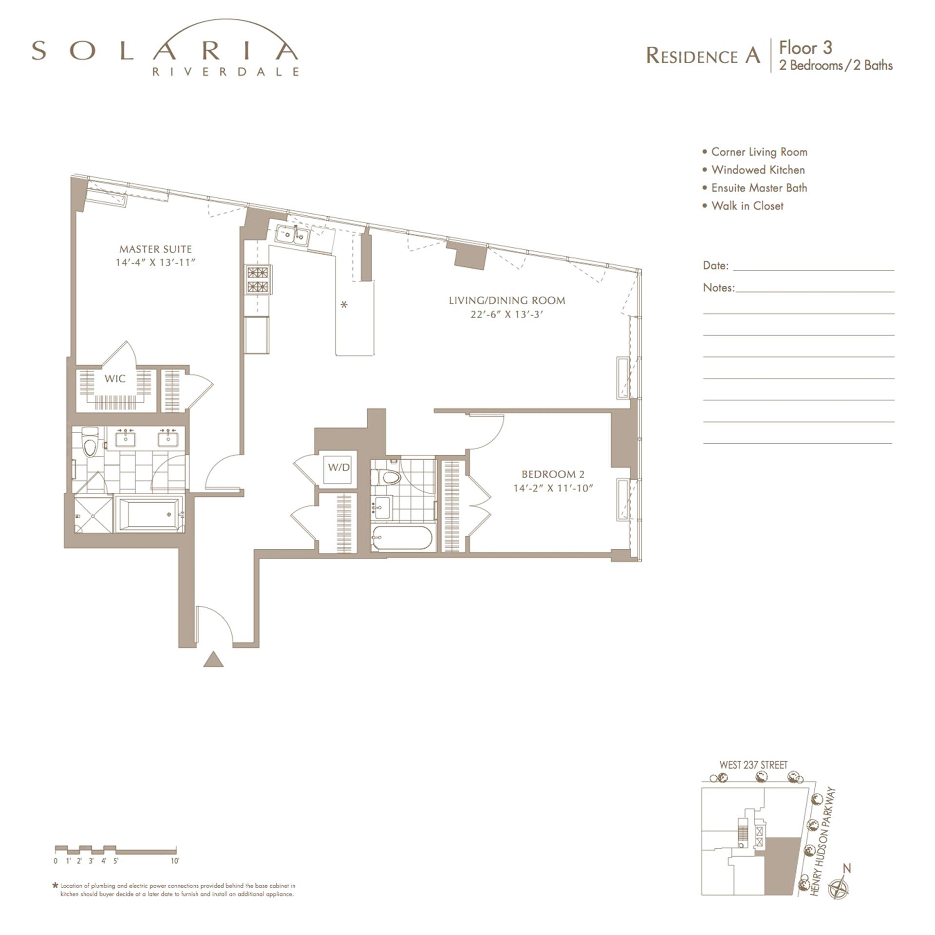 Floor plan of Solaria Riverdale, 640 West 237th St, 3A - Riverdale, New York