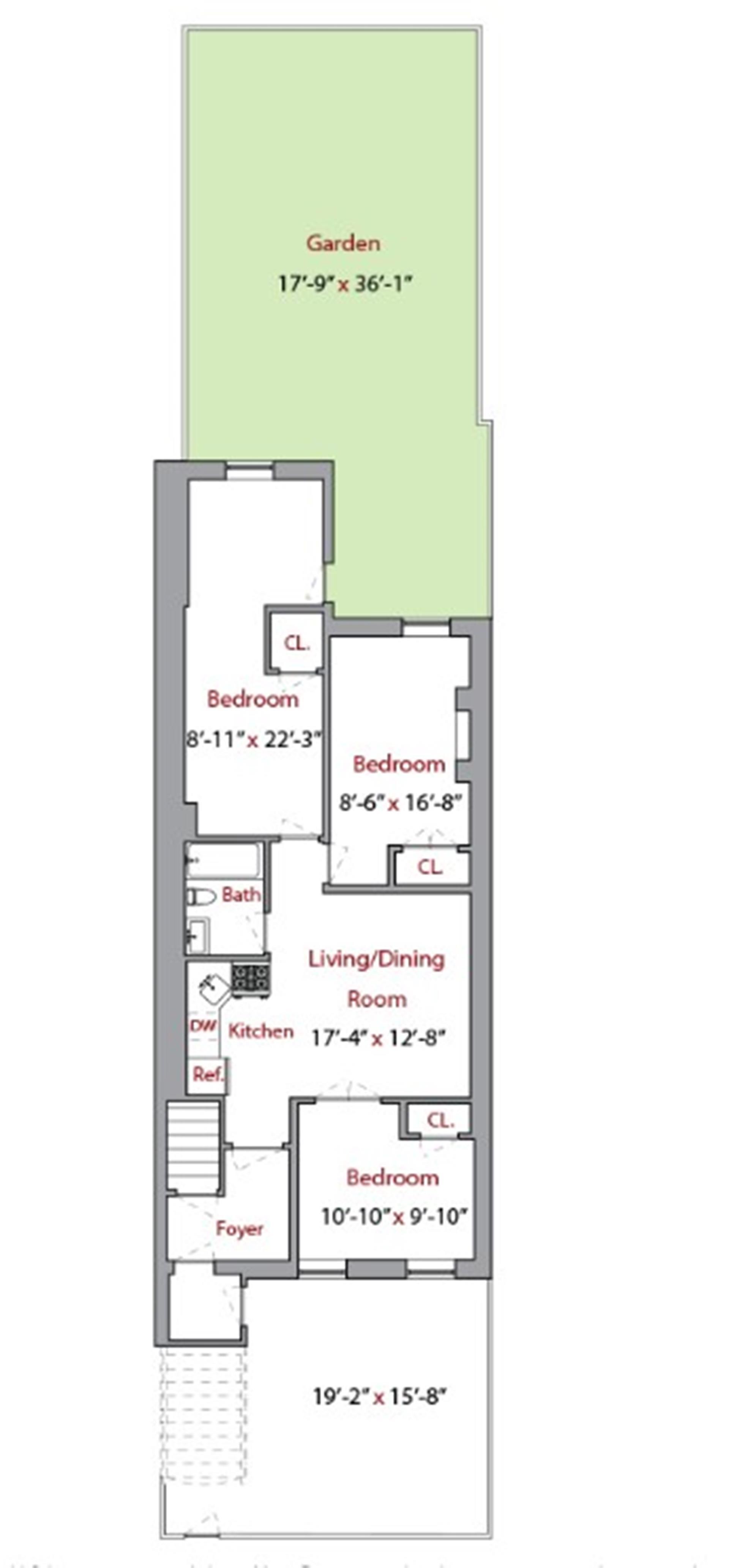 Floor plan of 205 Van Buren St - Bedford - Stuyvesant, New York