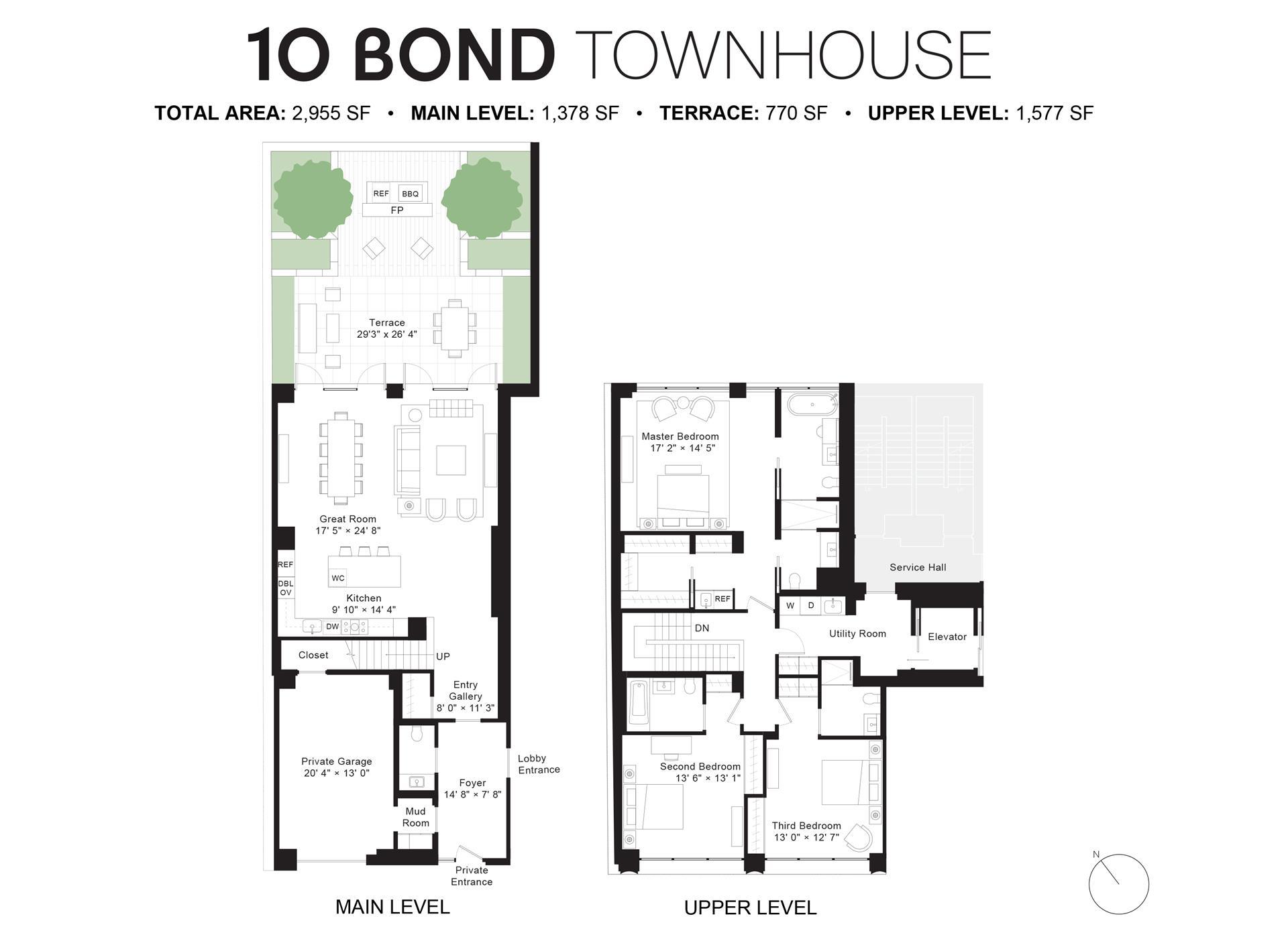 Floor plan of 10 Bond, 10 BOND St, MAISONETTE - NoHo, New York