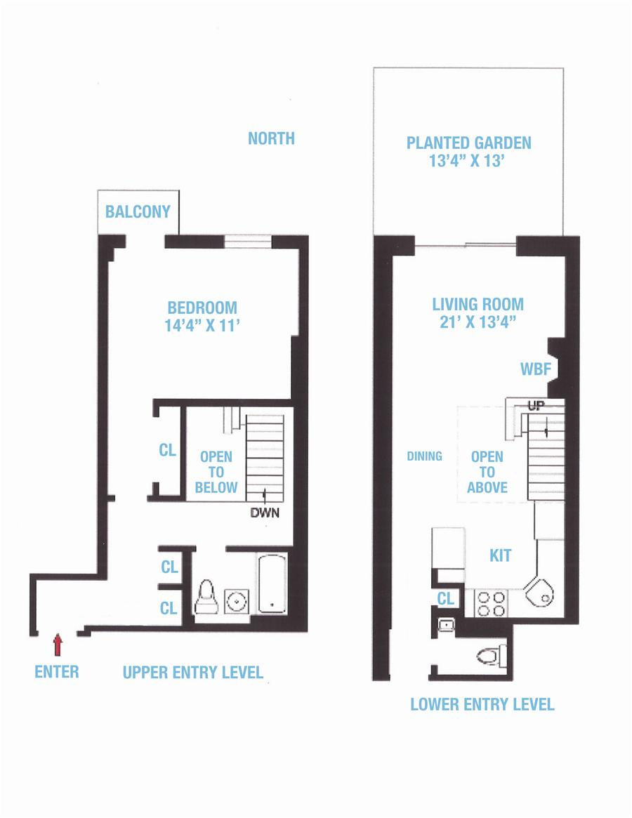 Floor plan of 311 W 83RD HOUSING, 311 West 83rd Street, B