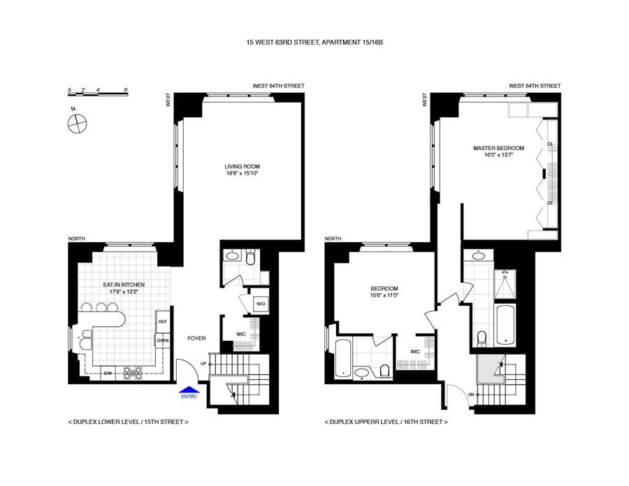 Floor plan of THE PARK LAUREL, 15 West 63rd Street, 15BDUPLEX
