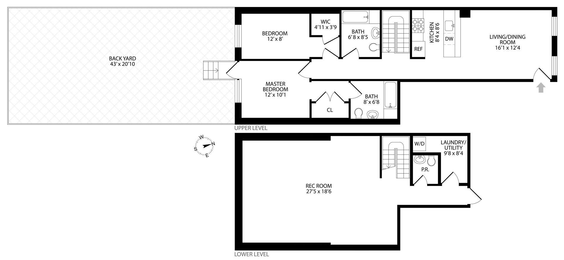 Floor plan of 96 4th Pl, 1 - Carroll Gardens, New York