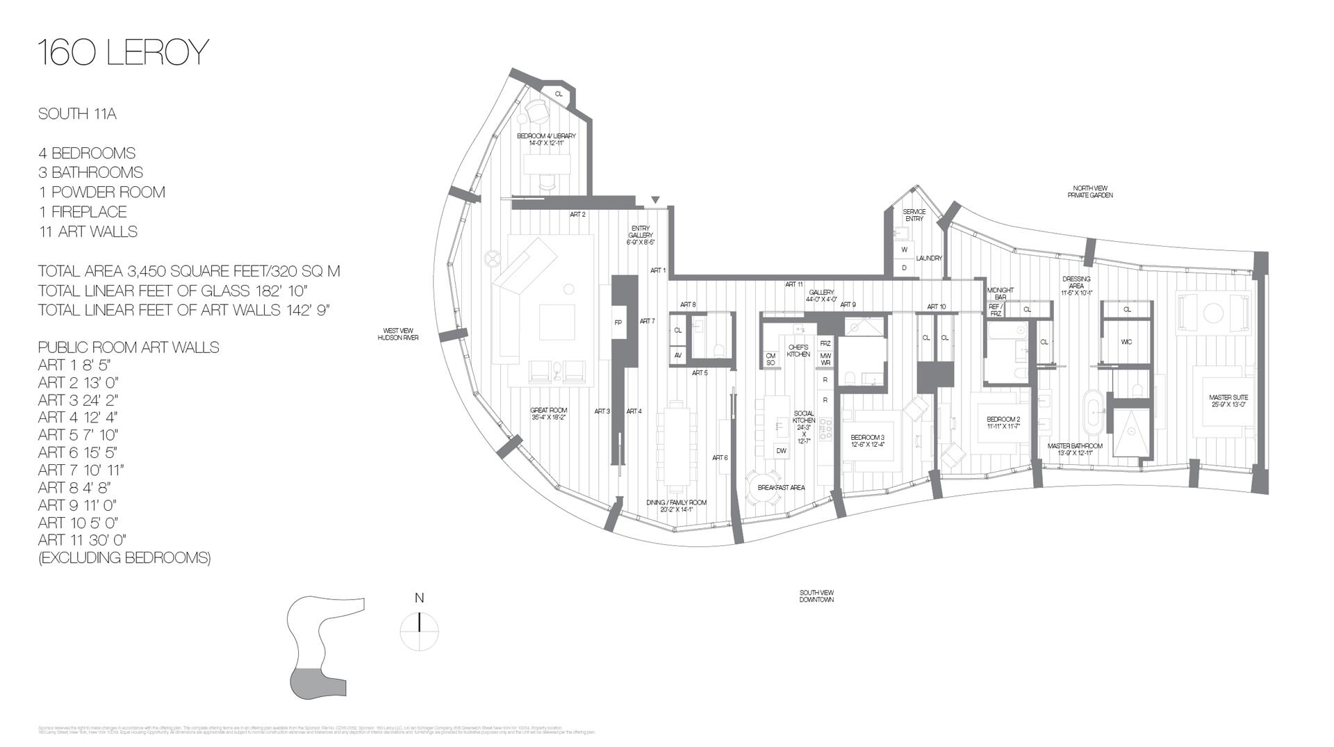 Floor plan of 160 Leroy St, SOUTH11A - West Village - Meatpacking District, New York