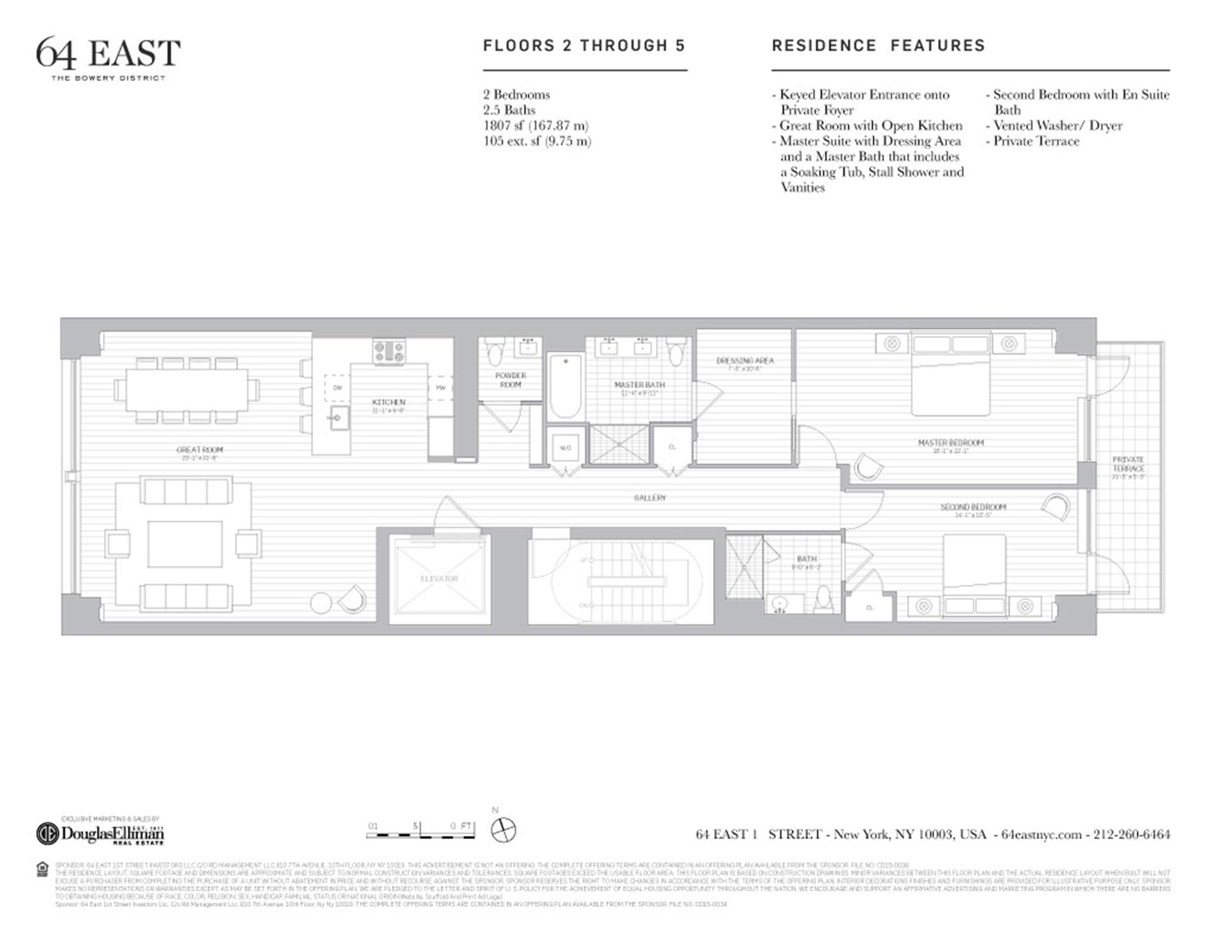 Floor plan of 64 East 1st St, 2FL - East Village, New York
