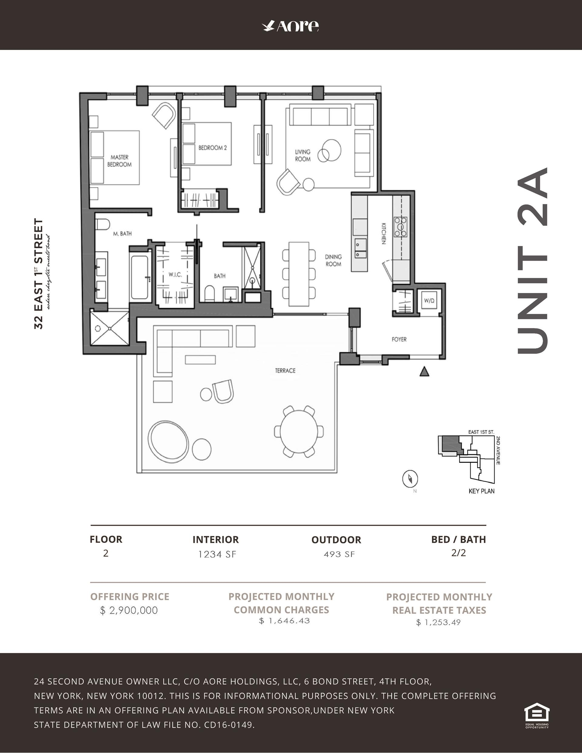 Floor plan of 32 East 1st St, 2A - East Village, New York
