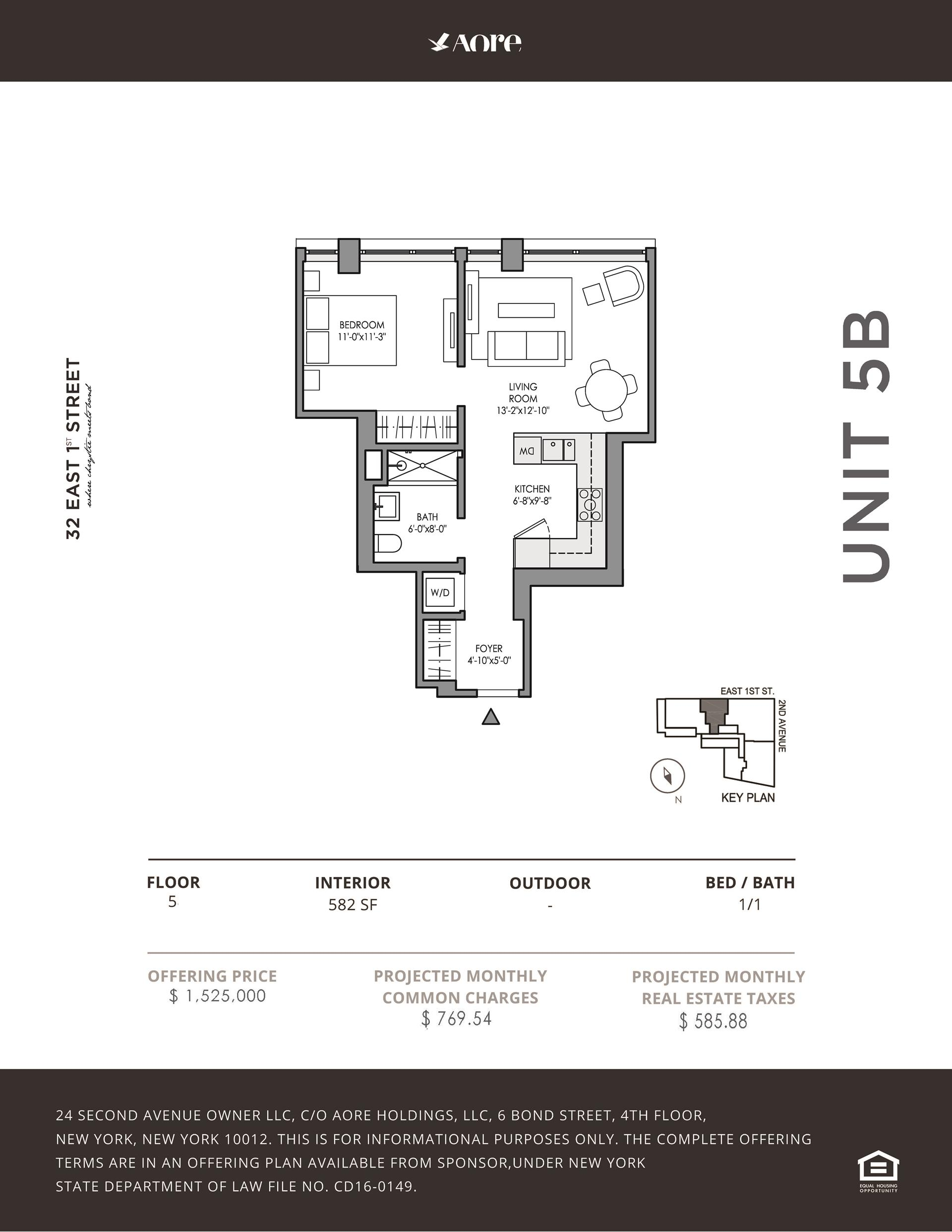 Floor plan of 32 East 1st St, 5B - East Village, New York