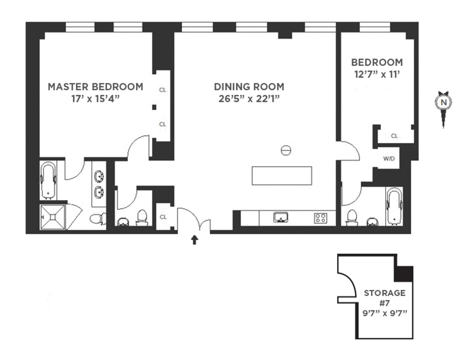 Floor plan of The Grand Madison, 225 Fifth Avenue, 4M - Flatiron District, New York
