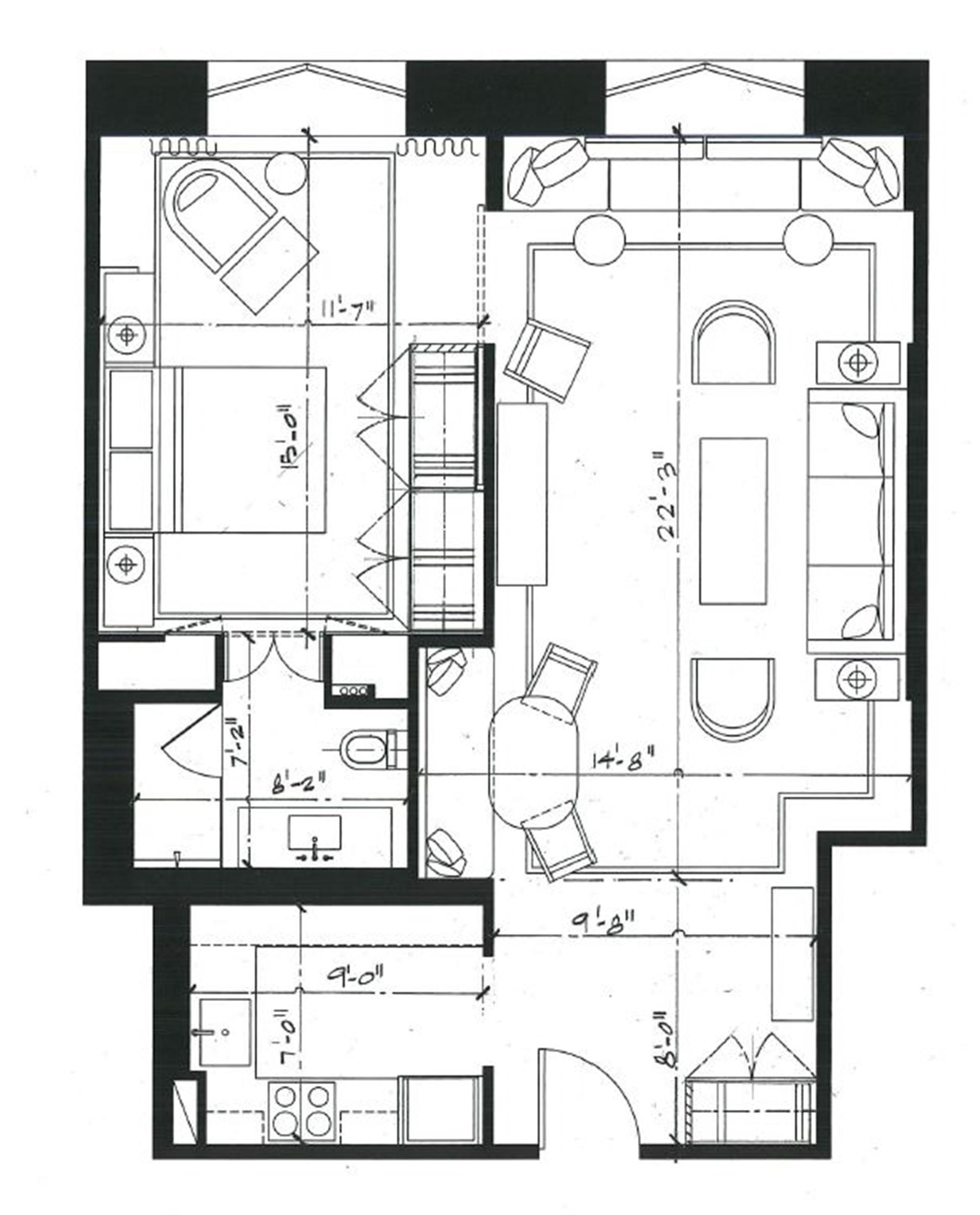 Floor plan of 1001 Fifth Avenue, 3D - Upper East Side, New York