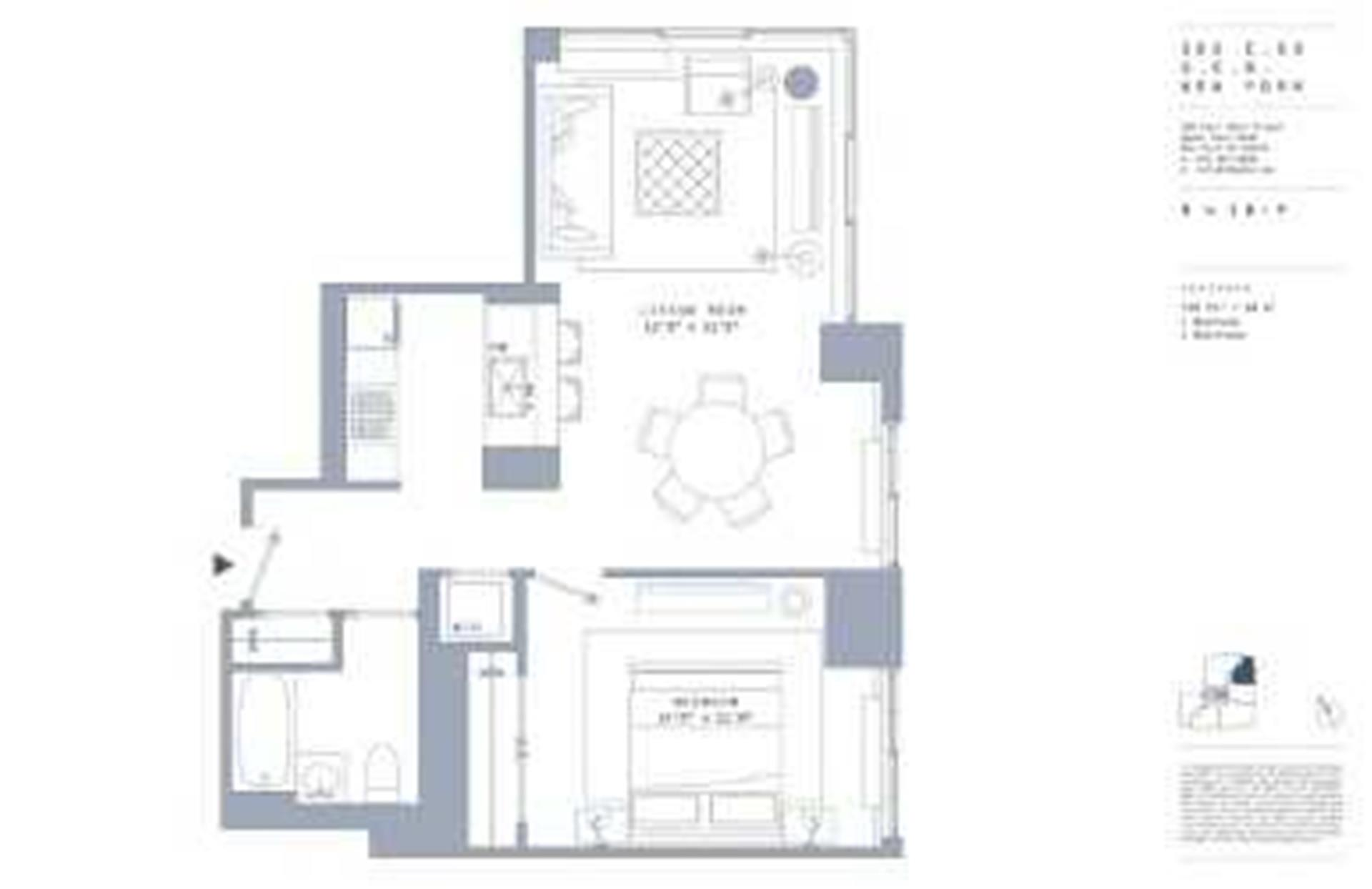 Floor plan of 389 East 89th St, 16F - Upper East Side, New York