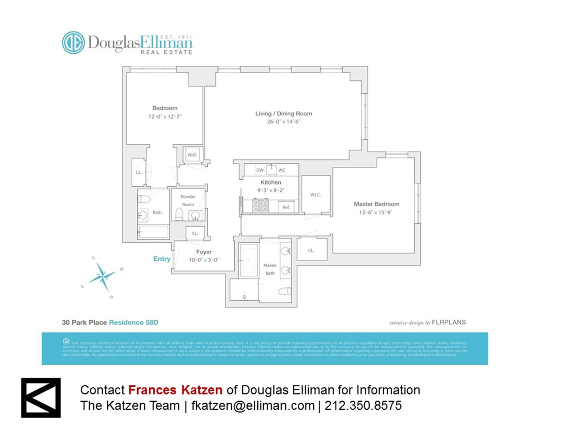 Floor plan of Four Seasons, 30 Park Pl, 58D - TriBeCa, New York