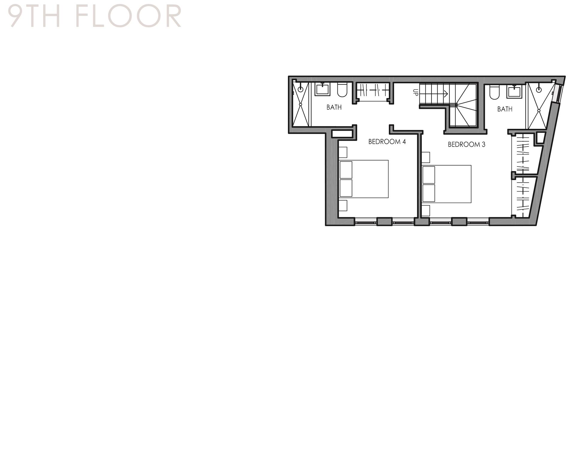 Floor plan of 32 East 1st St, PHC - East Village, New York