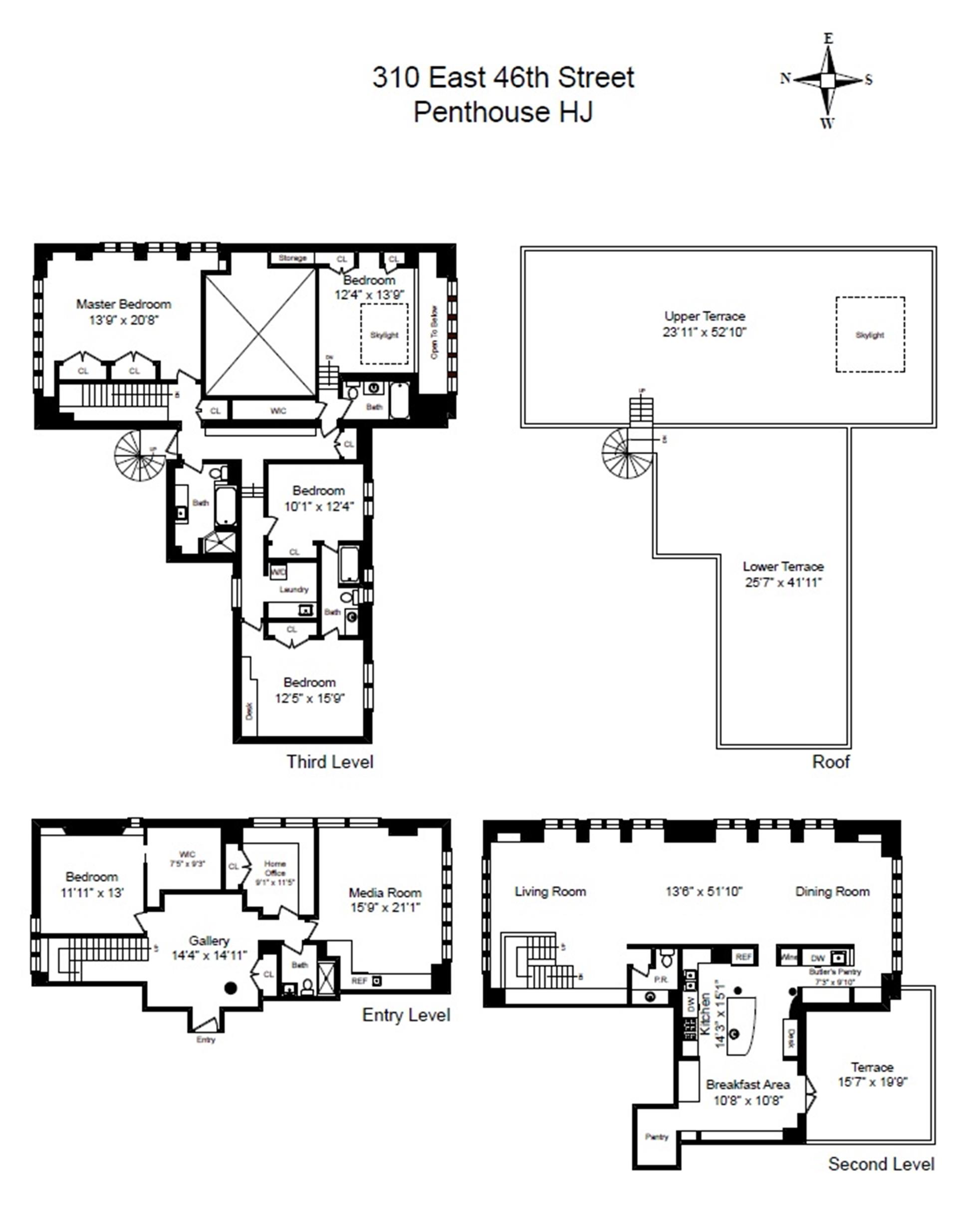 Floor plan of TURTLE BAY TOWERS, 310 East 46th St, PHHJ - Turtle Bay, New York