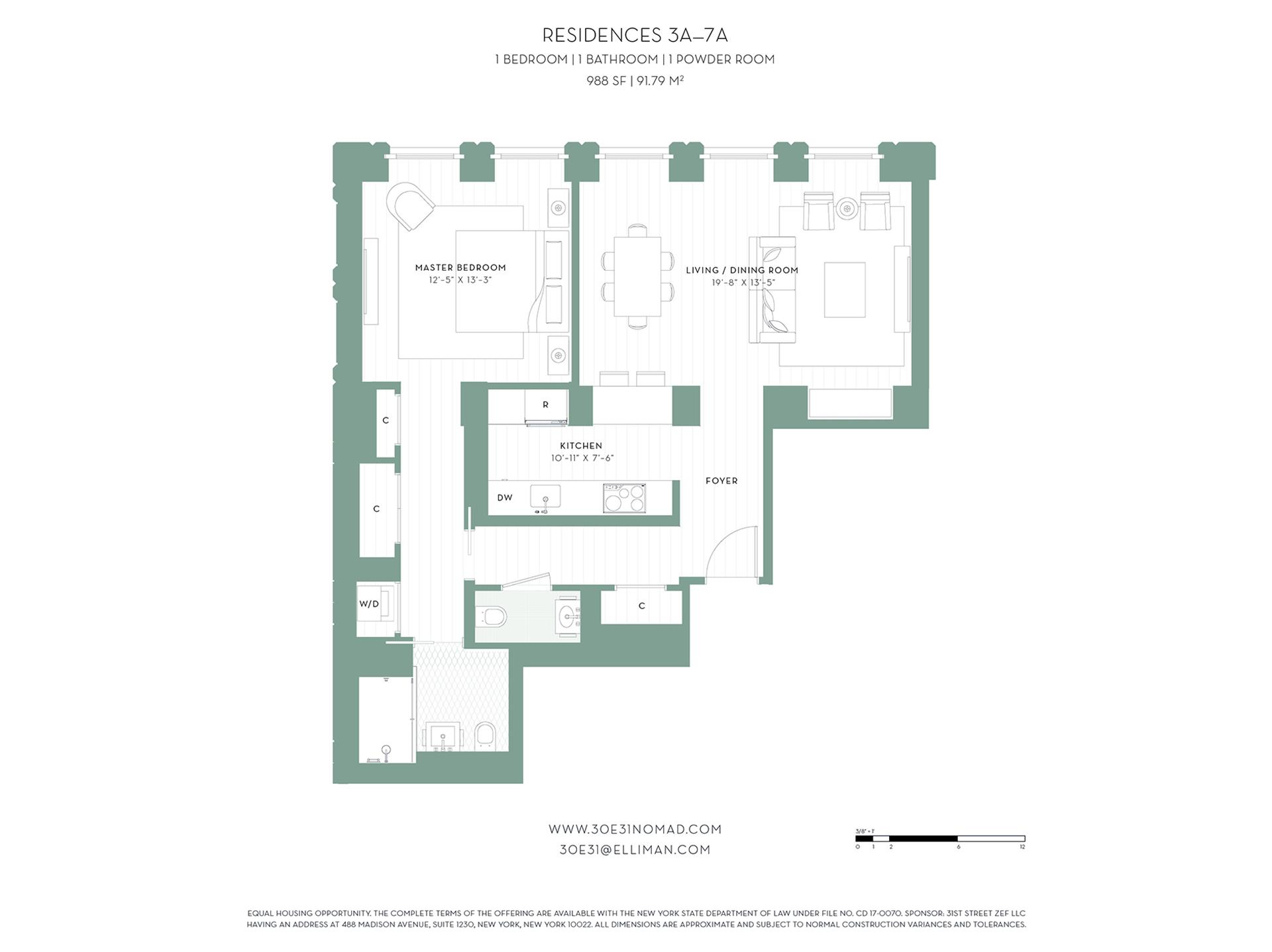Floor plan of 30 East 31st St, 3A - Midtown, New York