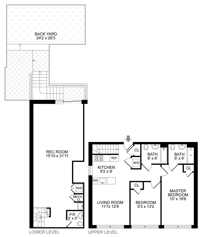 Floor plan of 854 Putnam Avenue, 1A - Stuyvesant Heights, New York