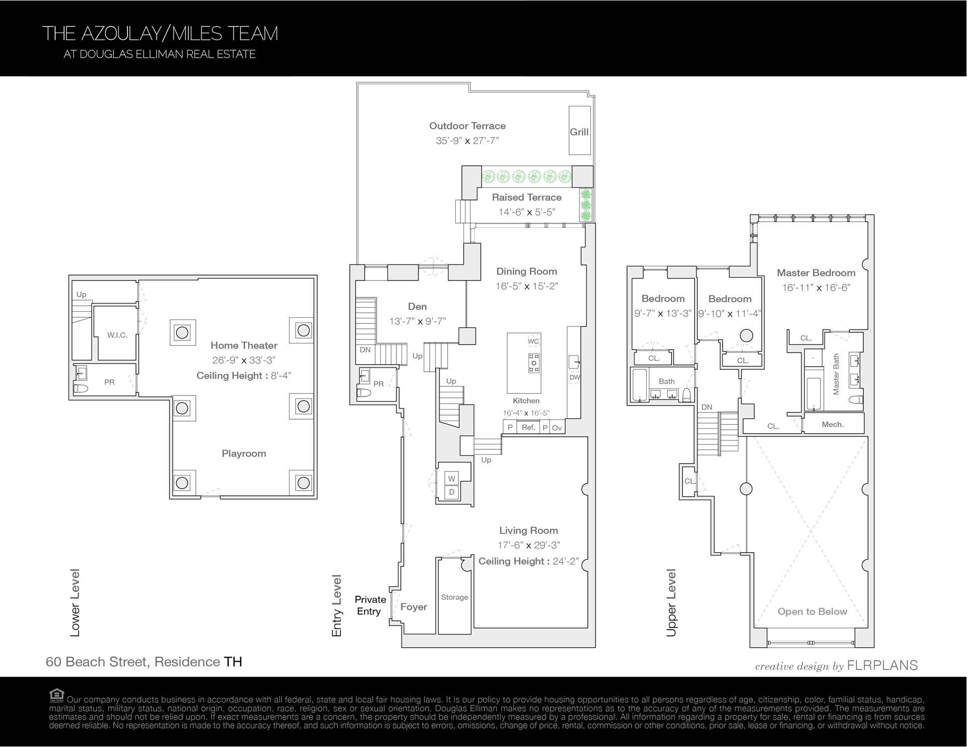 Floor plan of 60 Beach St, MAIS - TriBeCa, New York