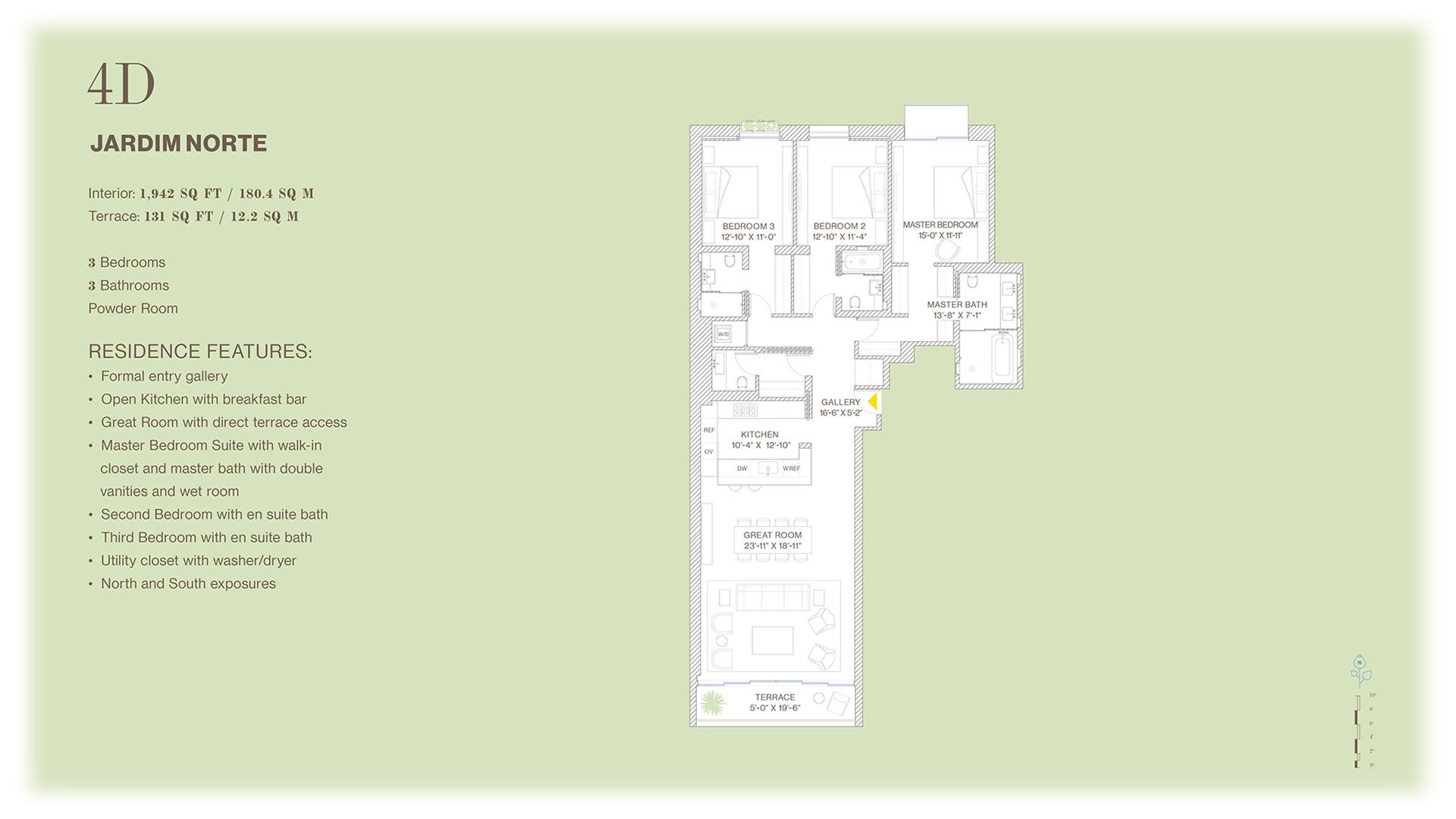 Floor plan of Jardim, 527 West 27th St, 4D - Chelsea, New York