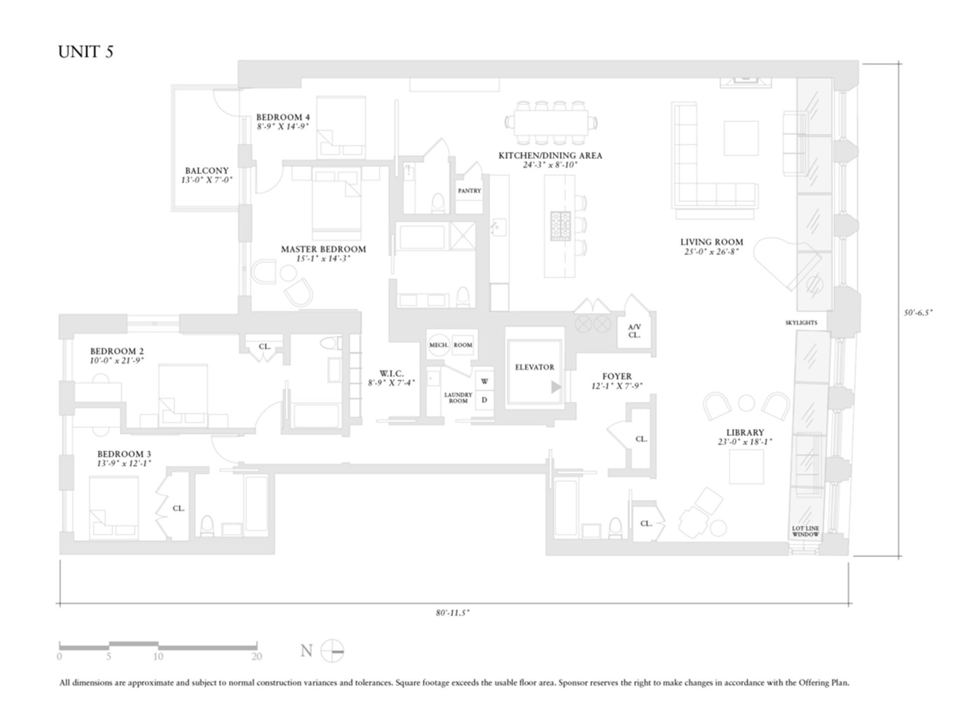 Floor plan of 52 Lispenard St, 5 - TriBeCa, New York