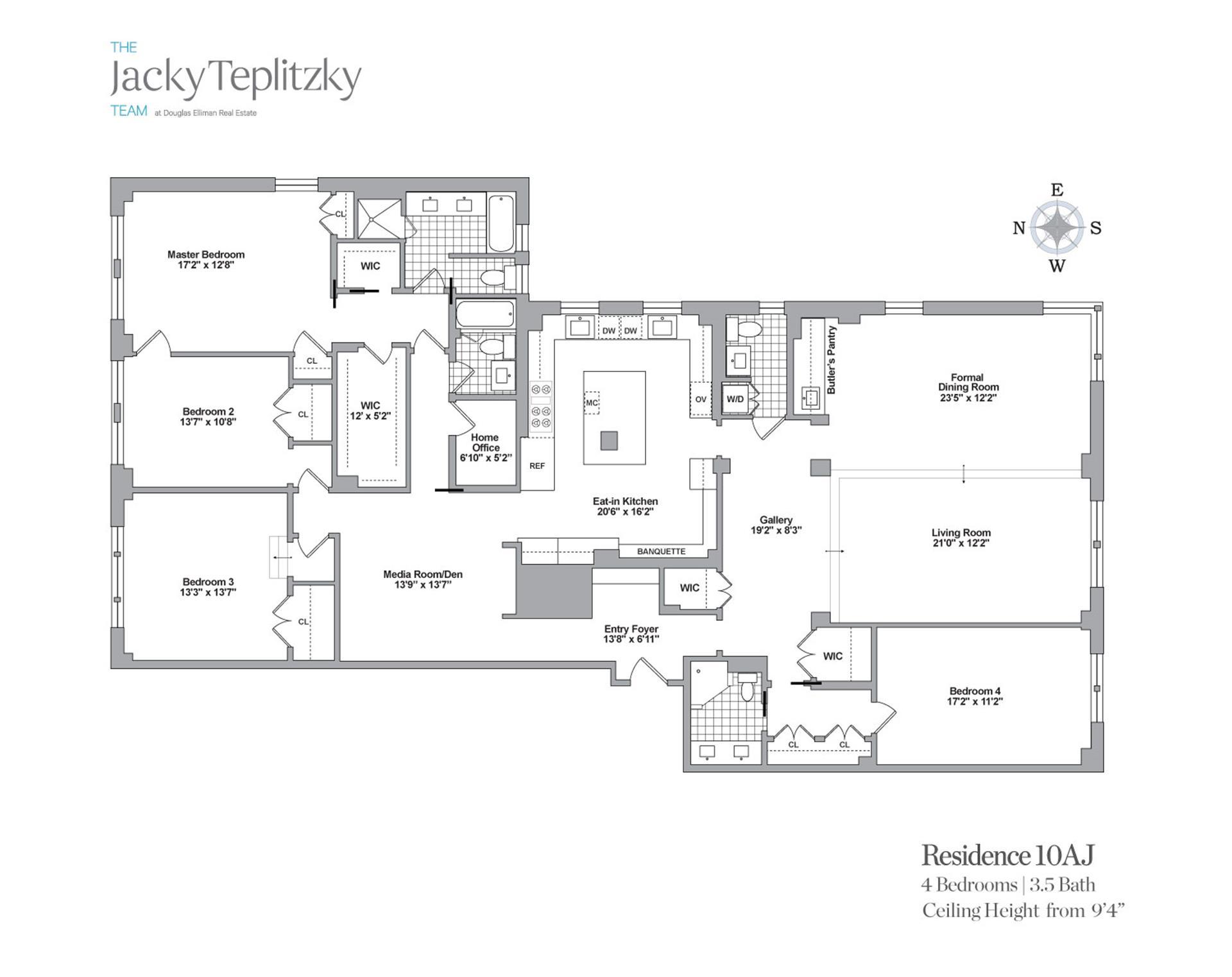 Floor plan of 152 East 94th St, 10AJ - Upper East Side, New York
