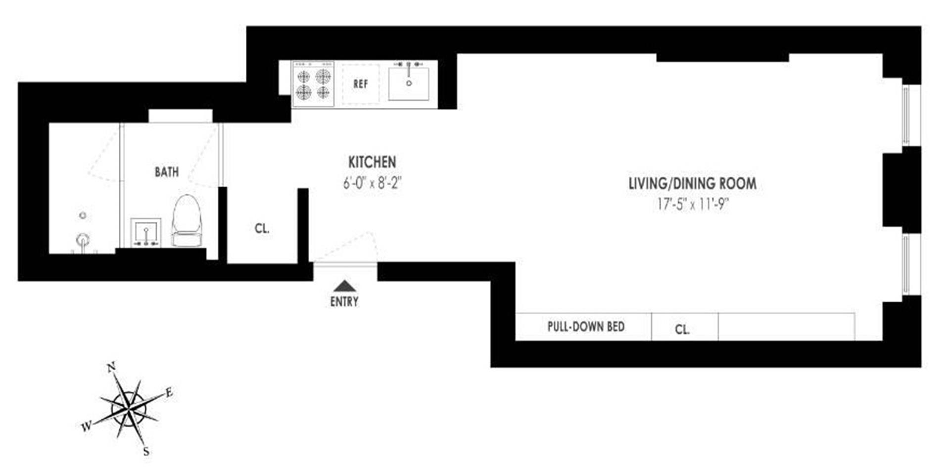 Floor plan of 50 East End Avenue, 3B - Upper East Side, New York