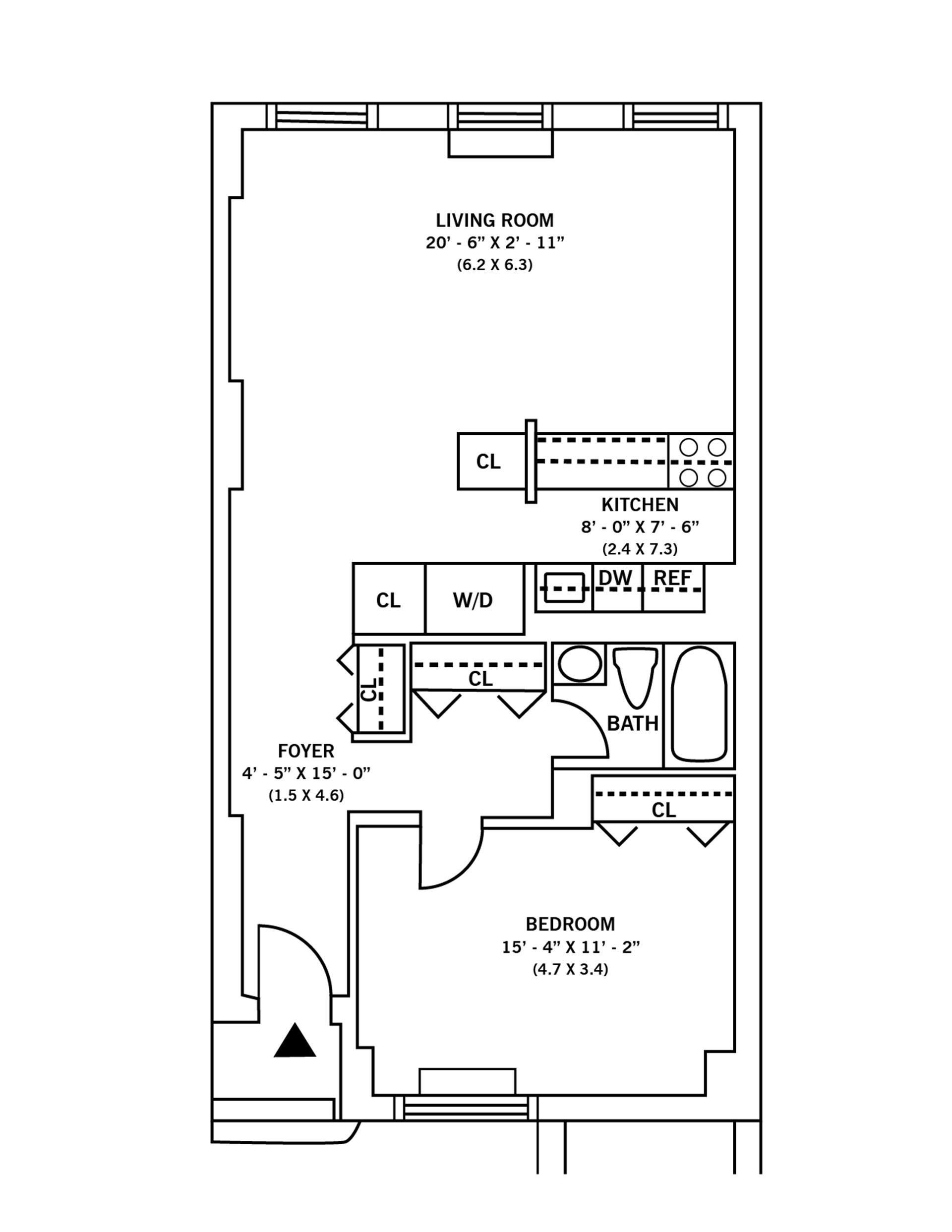 Floor plan of HUDSON TOWER, 350 Albany St, 5R - Battery Park City, New York
