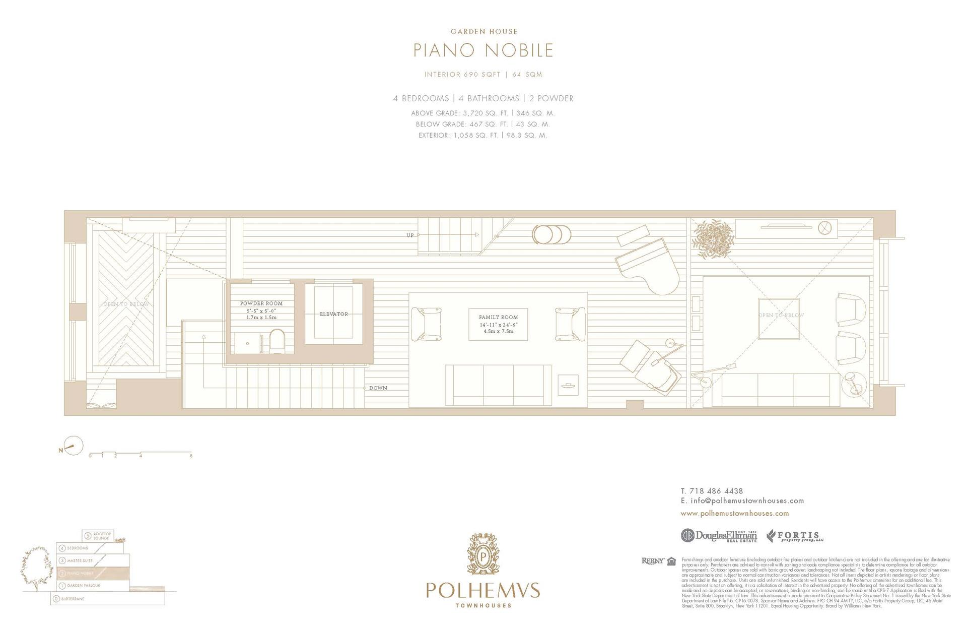 Floor plan of Polhemus, 94A Amity St - Cobble Hill, New York