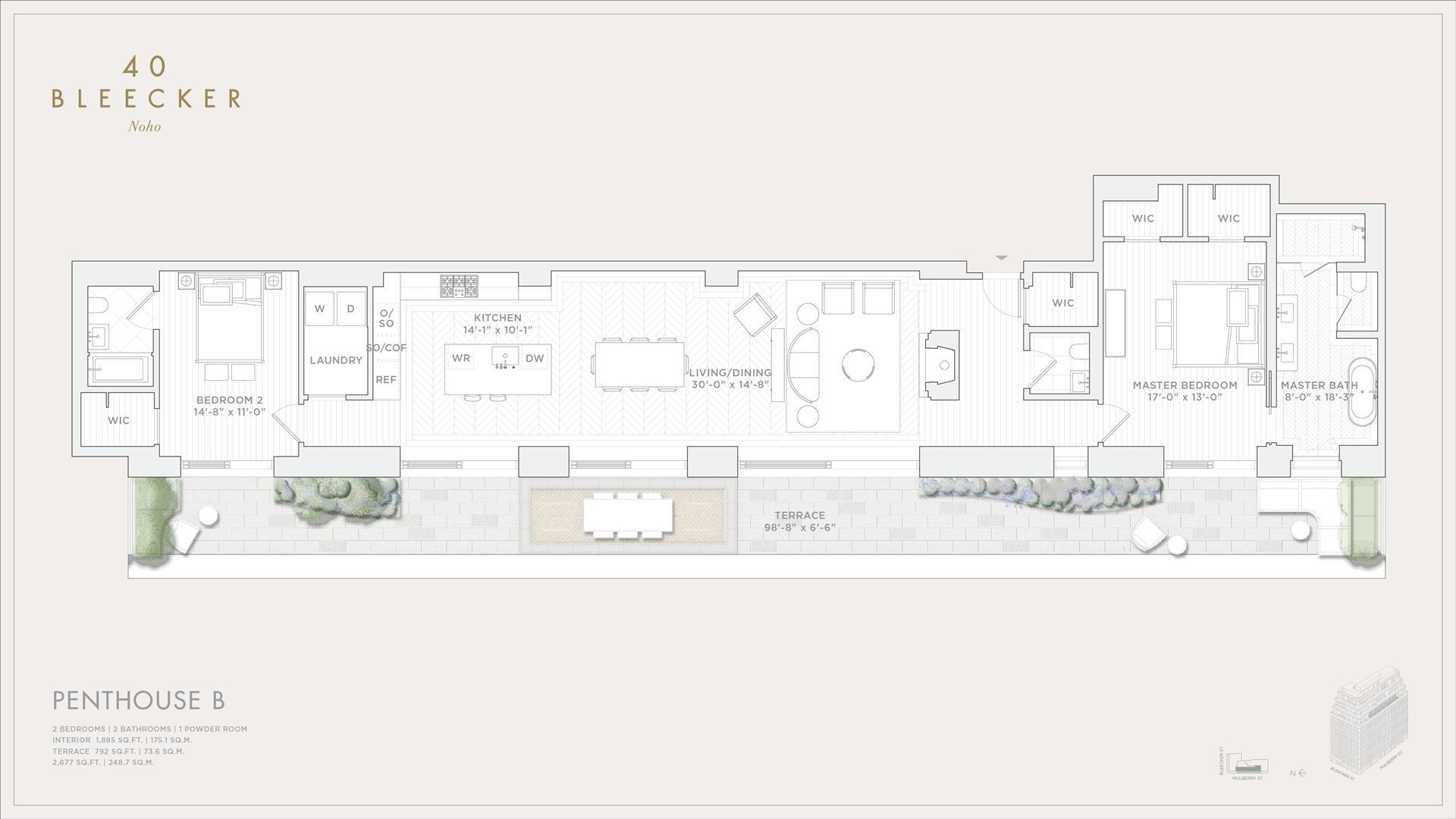 Floor plan of 40 Bleecker Street, PHB - NoHo, New York