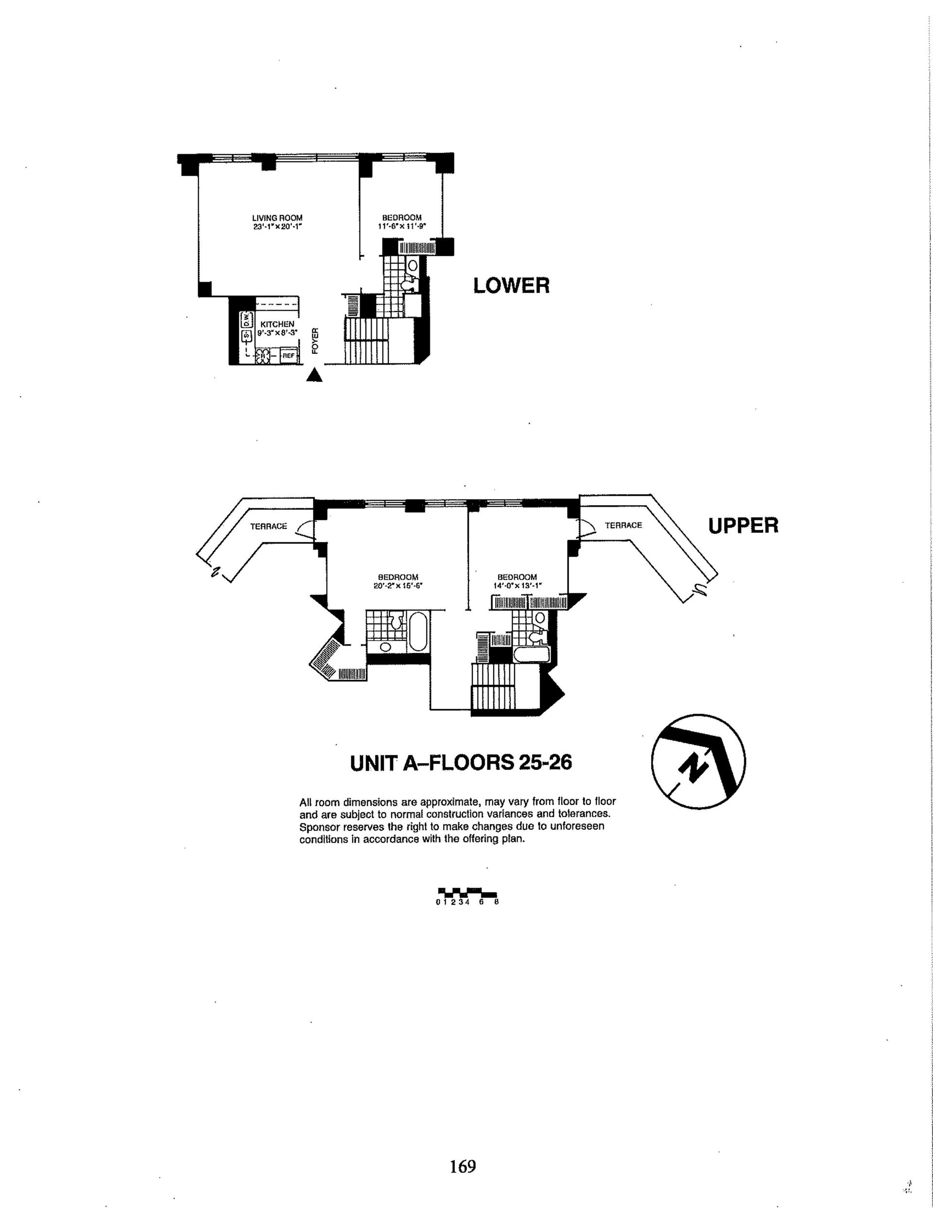 Floor plan of Liberty Residences, 380 Rector Pl, 17A - Battery Park City, New York