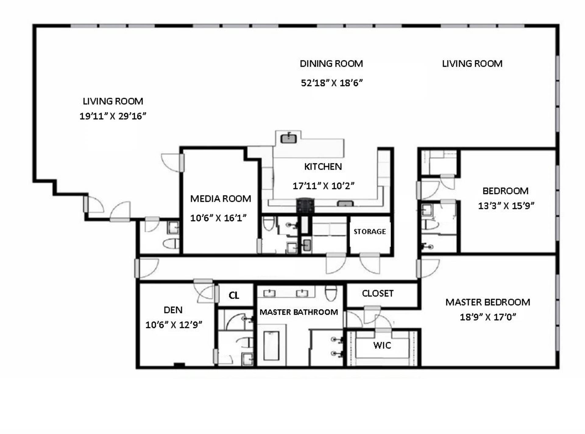 Floor plan of 145 Sixth Avenue, 5AB - SoHo - Nolita, New York