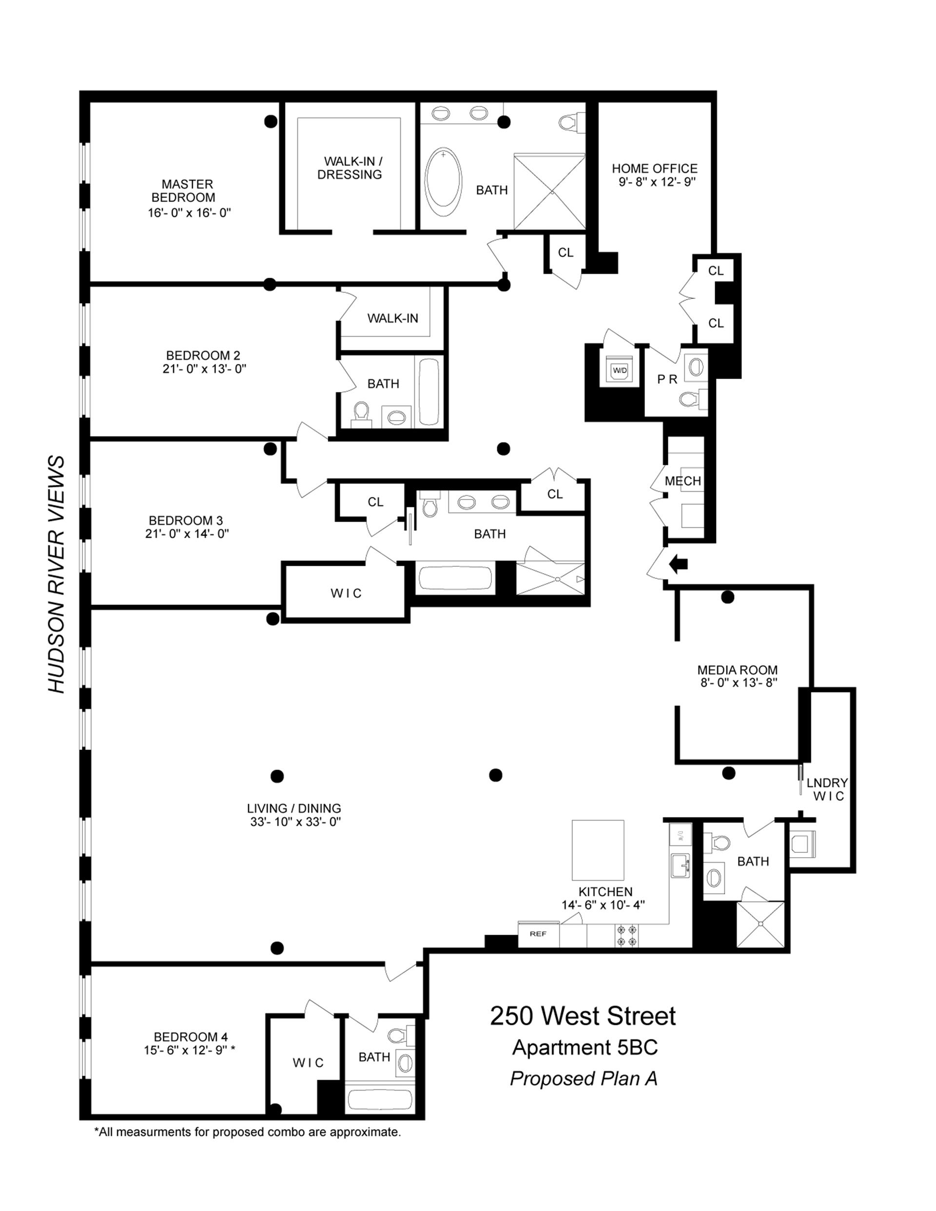 Floor plan of 250 West St, 5BC - TriBeCa, New York