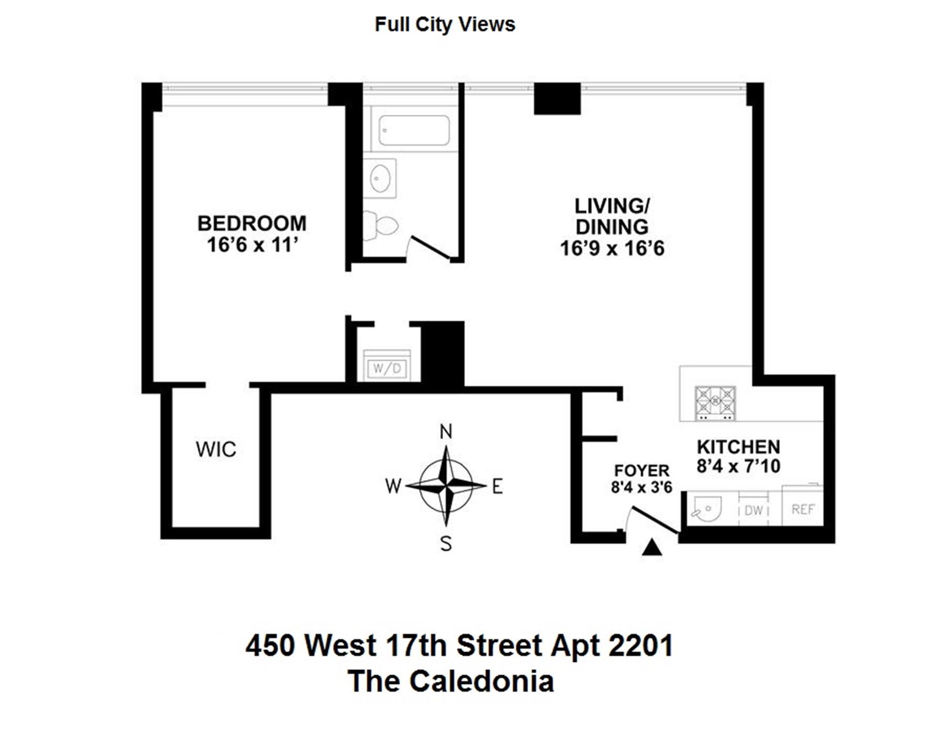 Floor plan of 450 West 17th St, 2201 - Chelsea, New York