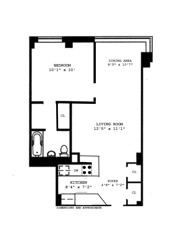 Floor plan of 405 East 63rd St, 1C - Upper East Side, New York