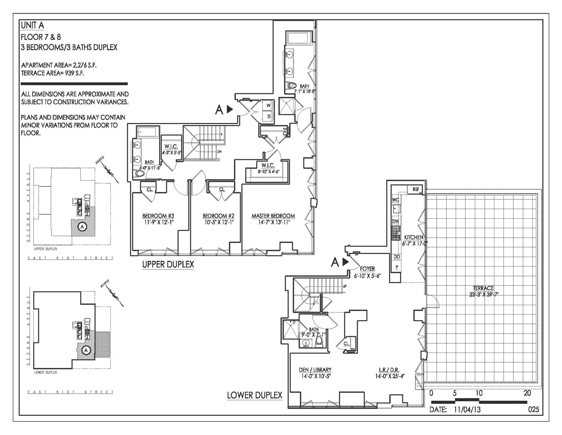 Floor plan of Halcyon, 305 East 51st St, 7A/8A - Turtle Bay, New York