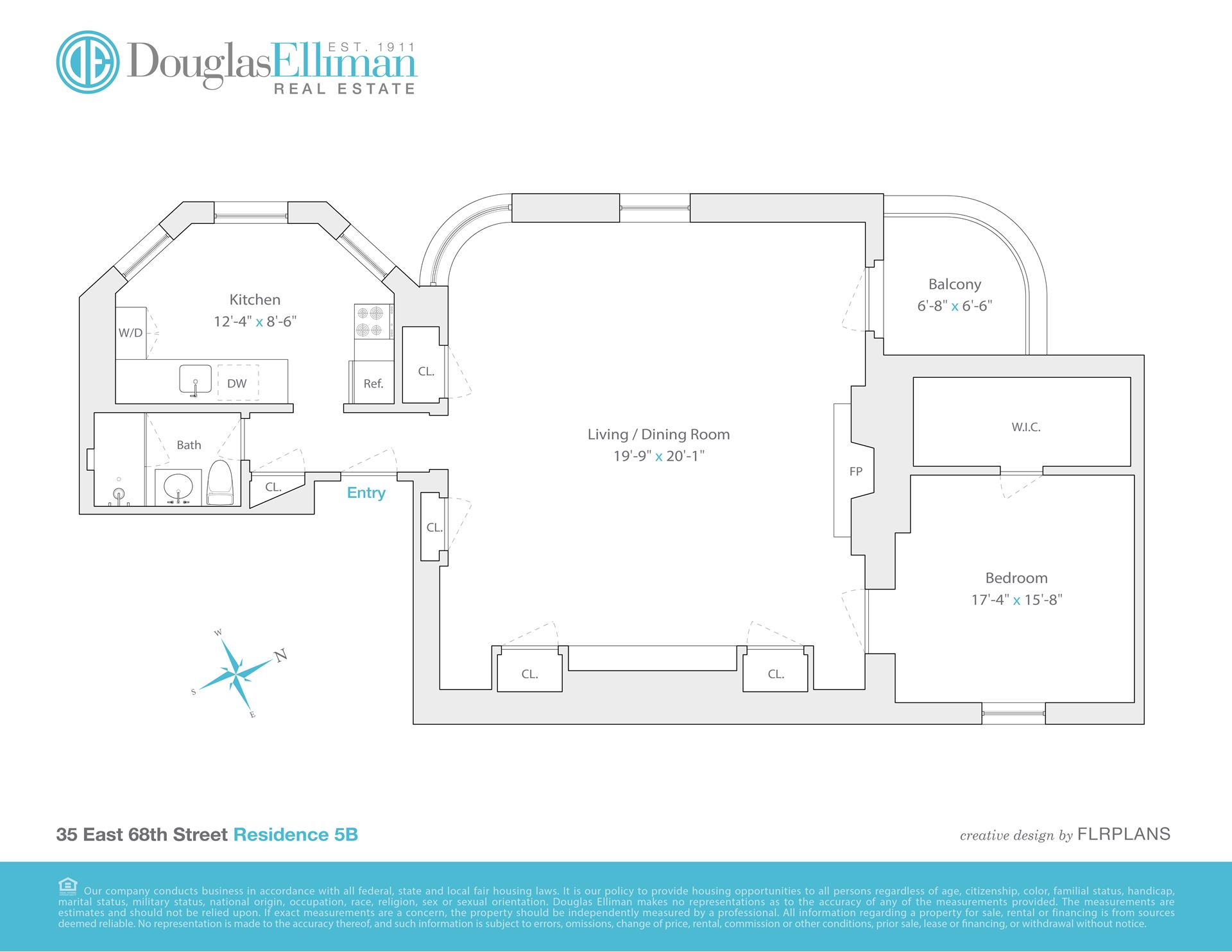 Floor plan of 35 East 68th St, 5B - Upper East Side, New York