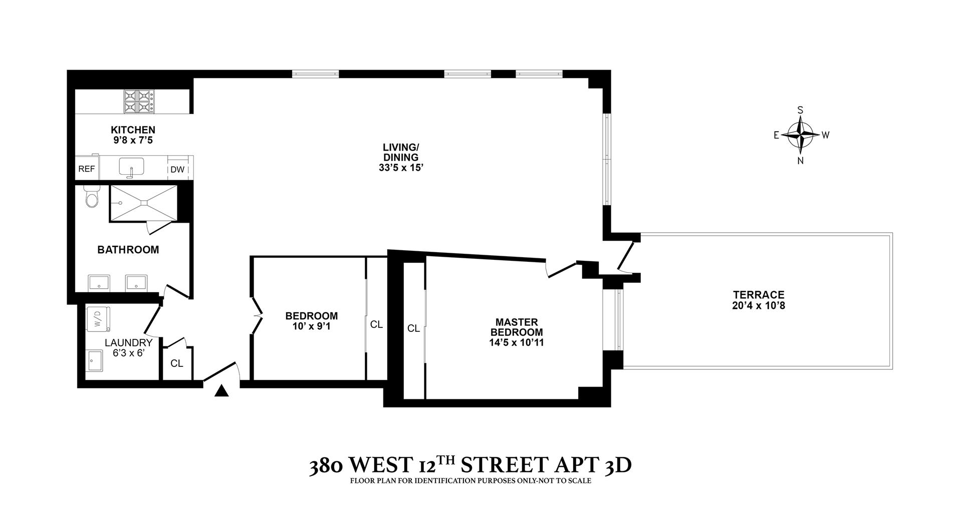 Floor plan of 380 West 12th St, 3D - West Village - Meatpacking District, New York