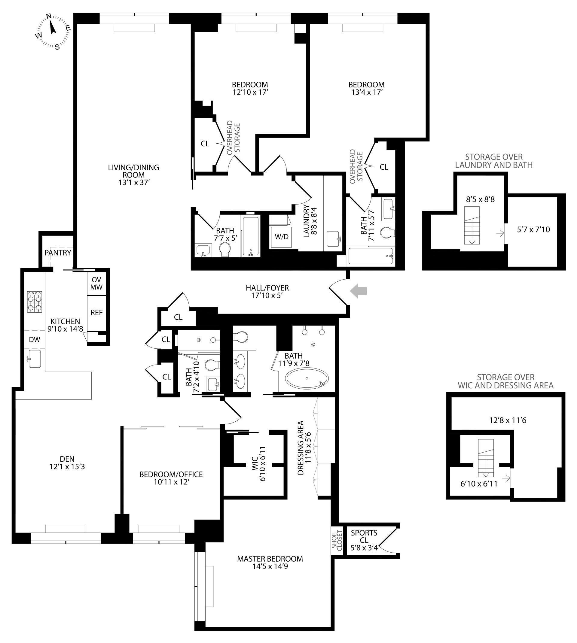Floor plan of 120 East 87th St, R12LK - Carnegie Hill, New York
