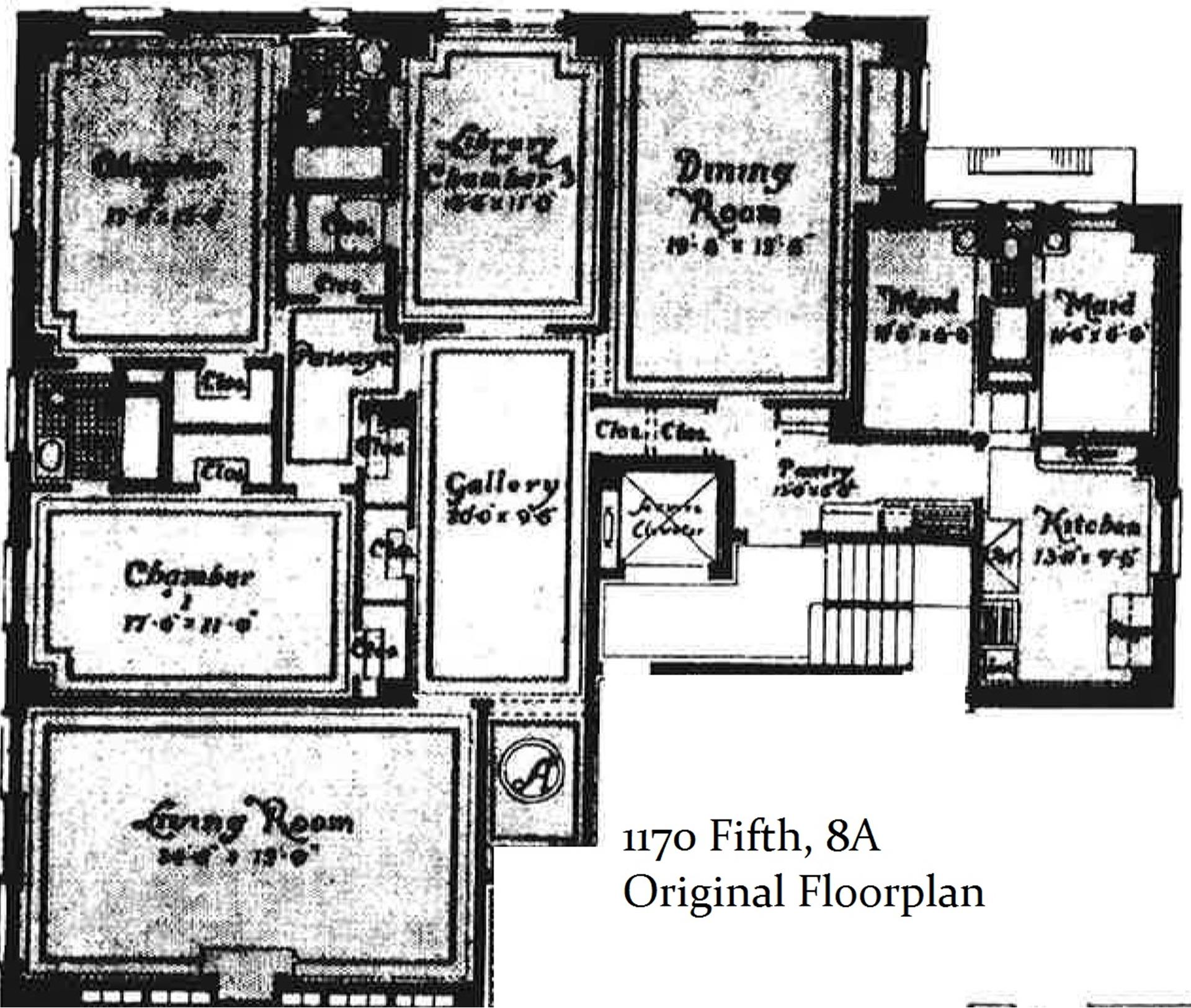 Floor plan of 1170 Fifth Avenue, 8A - Upper East Side, New York