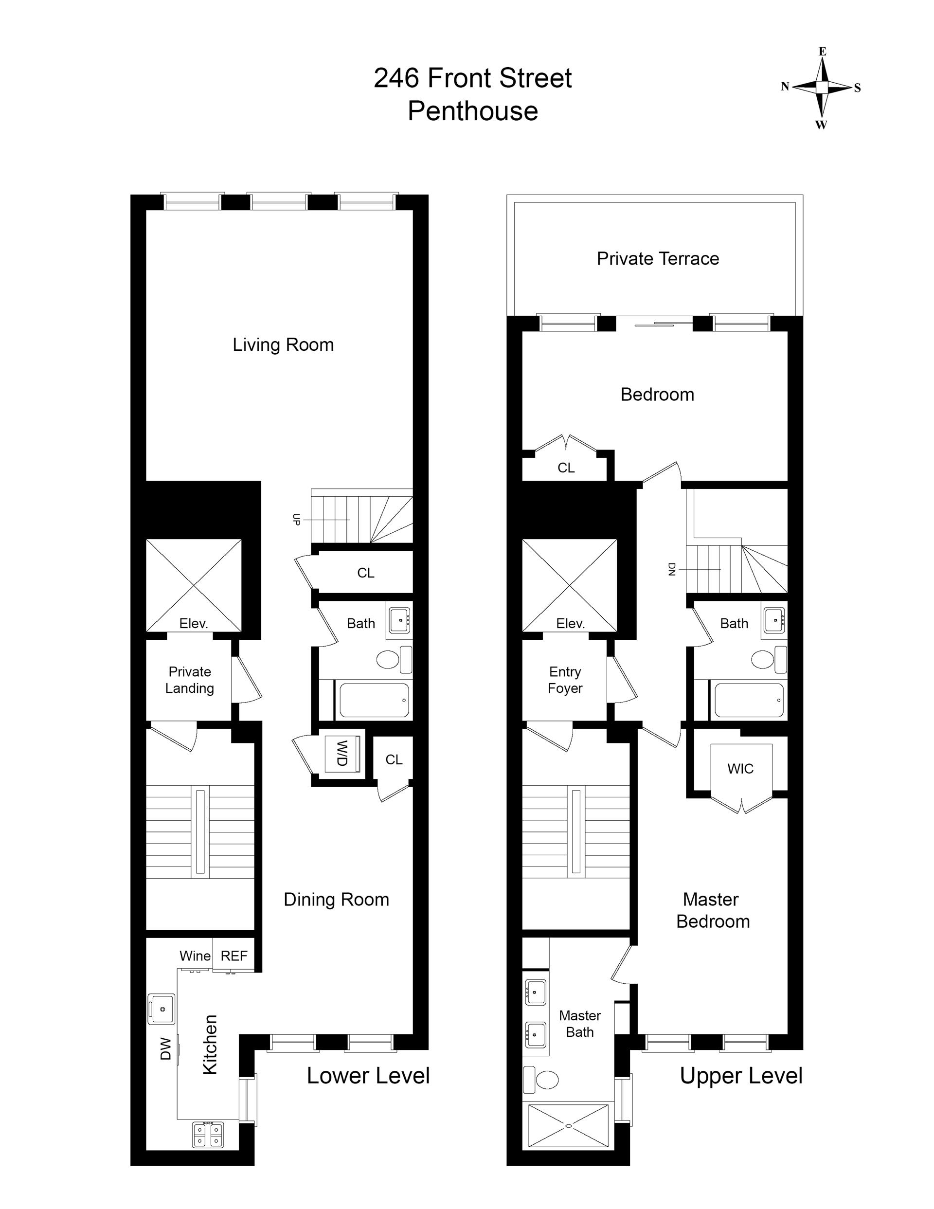 Floor plan of 246 Front St, PH - South St. Sea Port, New York
