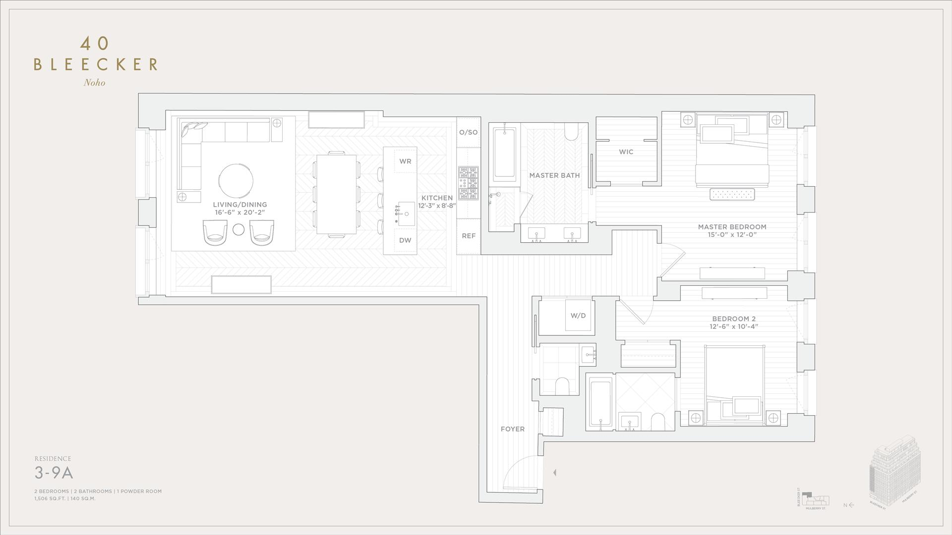 Floor plan of 40 Bleecker Street, 4A - NoHo, New York